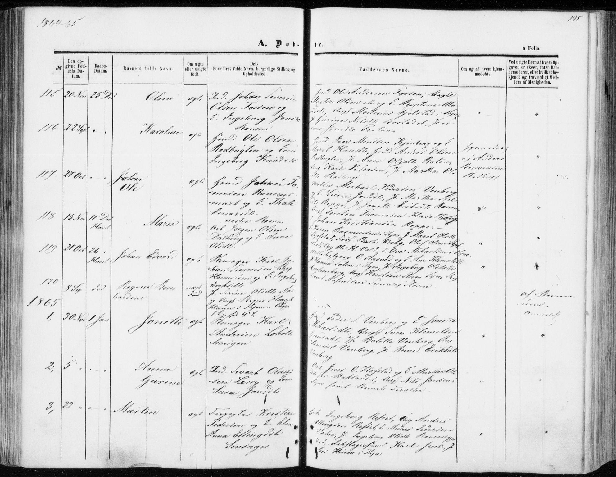 SAT, Ministerialprotokoller, klokkerbøker og fødselsregistre - Sør-Trøndelag, 606/L0292: Ministerialbok nr. 606A07, 1856-1865, s. 195