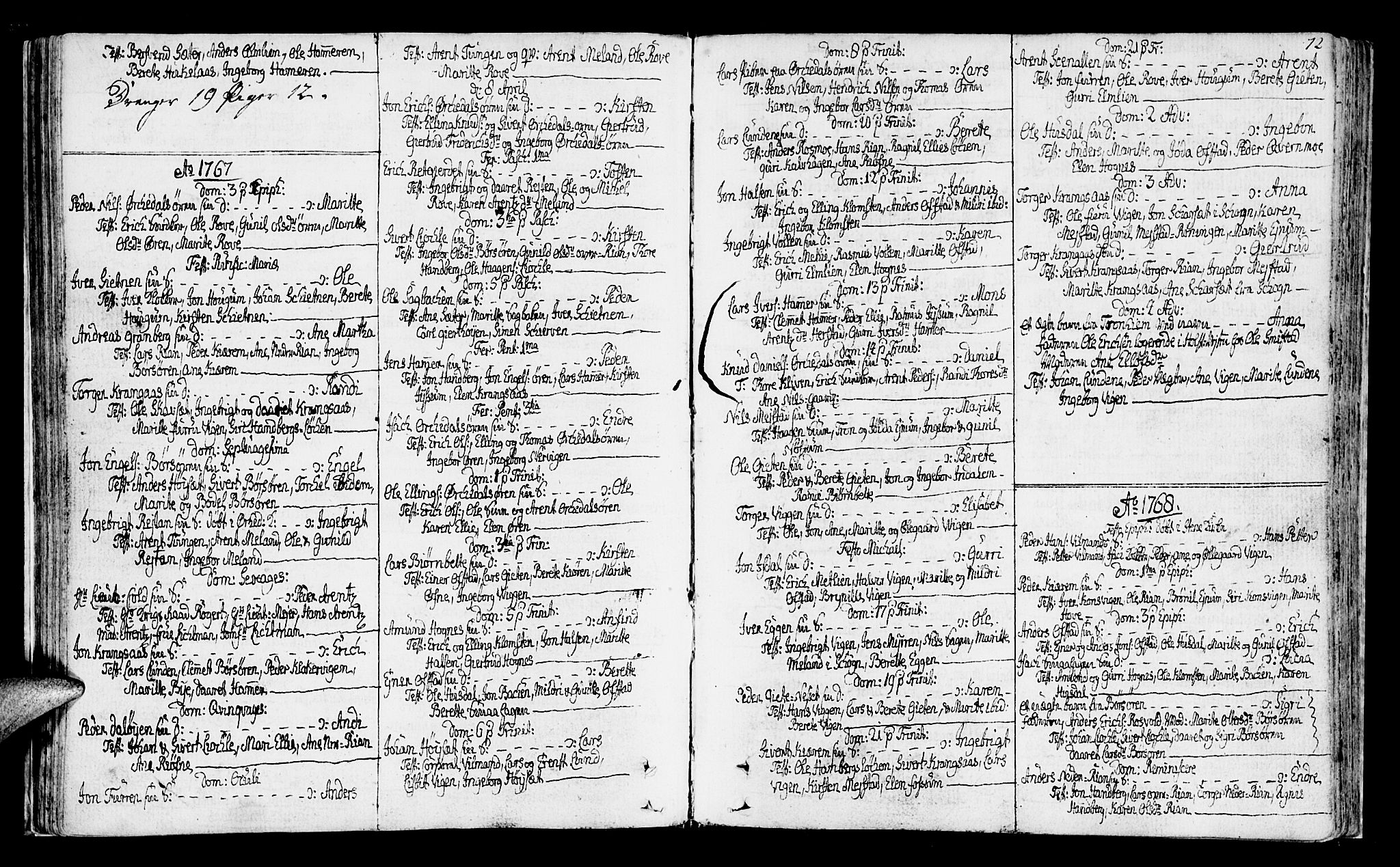 SAT, Ministerialprotokoller, klokkerbøker og fødselsregistre - Sør-Trøndelag, 665/L0768: Ministerialbok nr. 665A03, 1754-1803, s. 72
