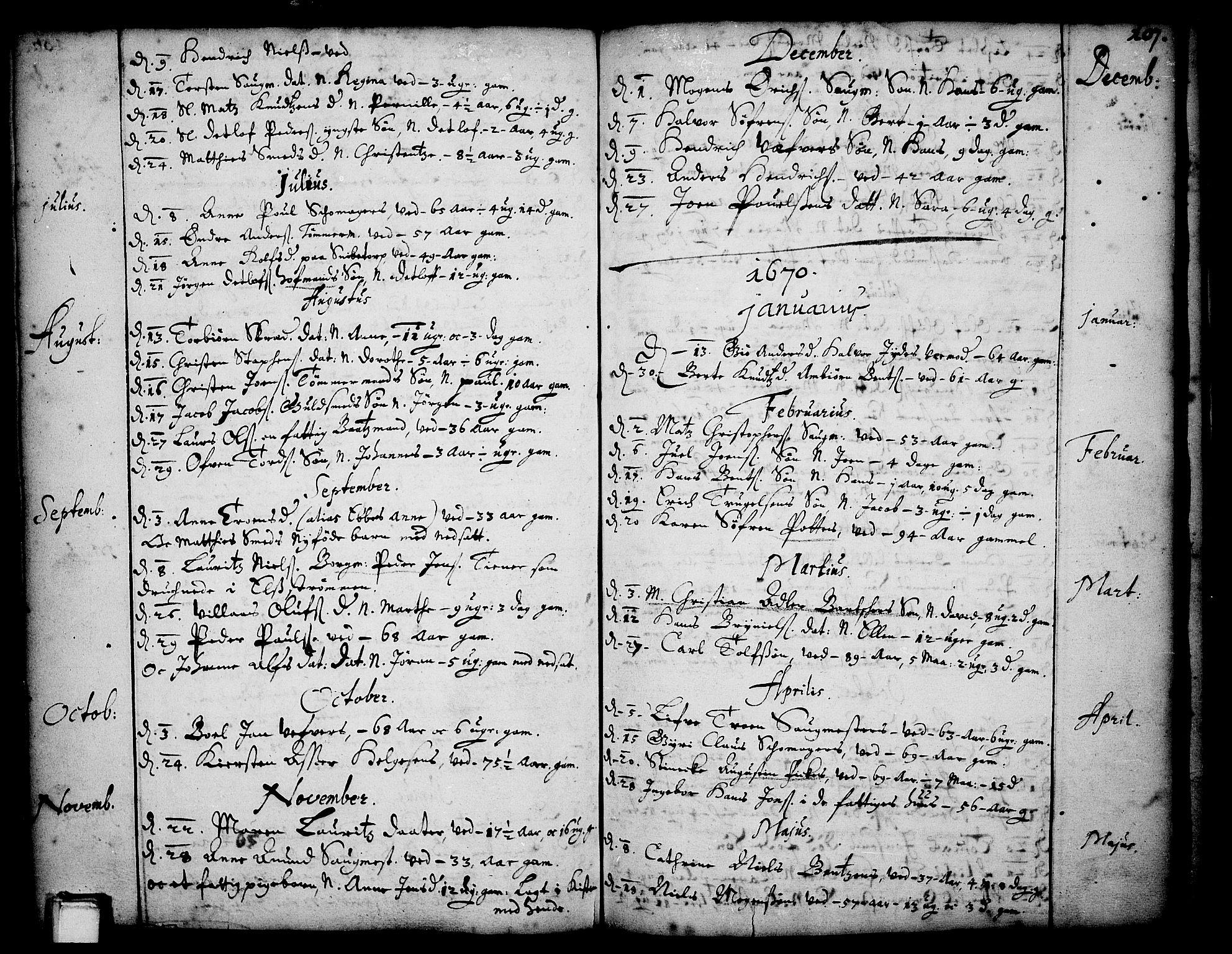 SAKO, Skien kirkebøker, F/Fa/L0001: Ministerialbok nr. 1, 1659-1679, s. 107