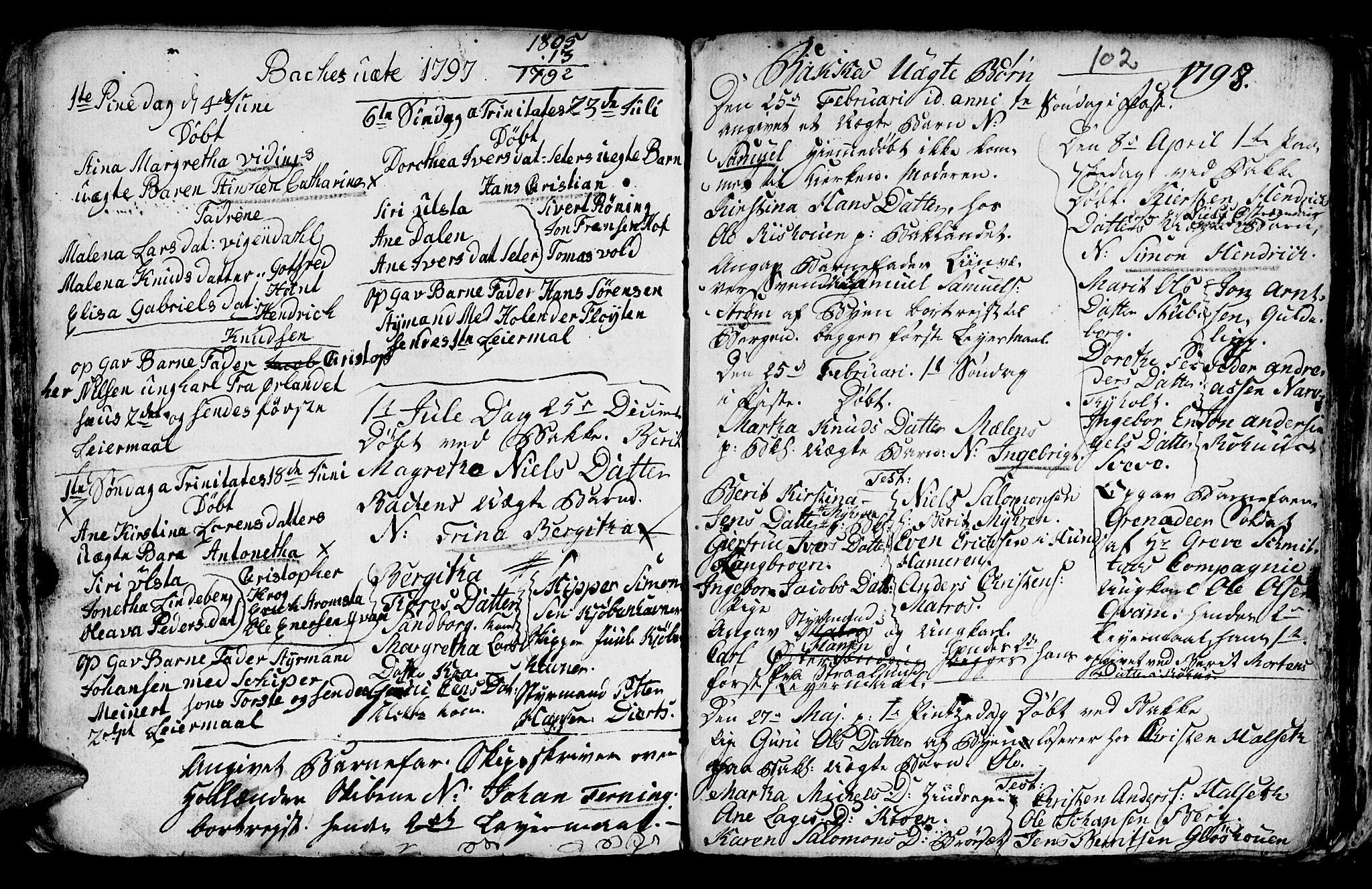 SAT, Ministerialprotokoller, klokkerbøker og fødselsregistre - Sør-Trøndelag, 604/L0218: Klokkerbok nr. 604C01, 1754-1819, s. 102