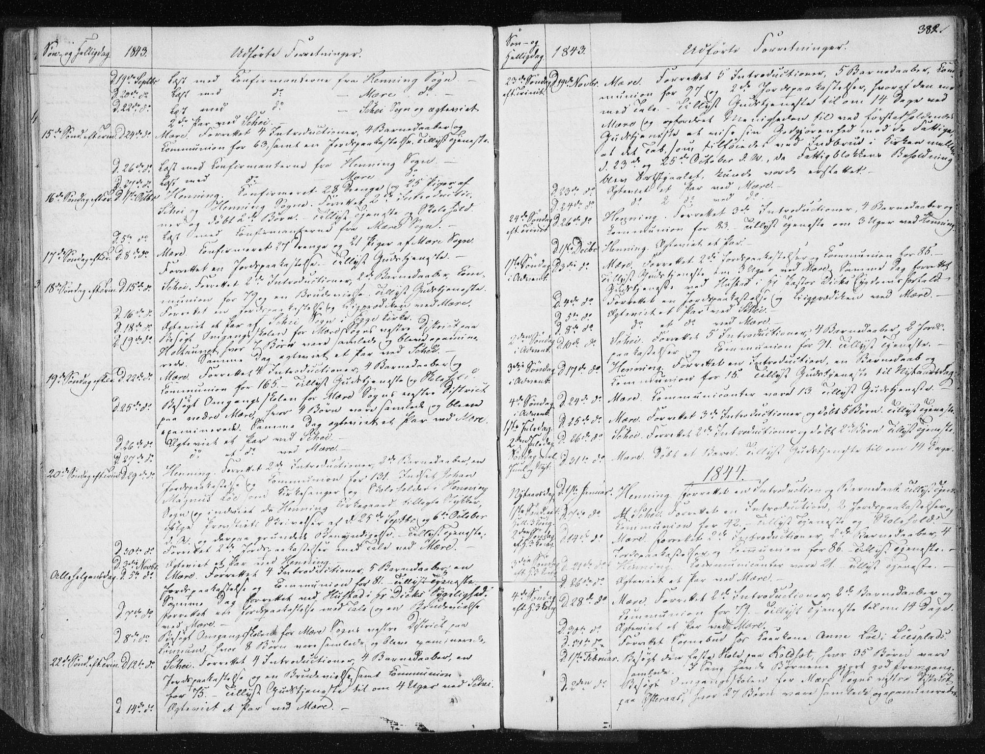 SAT, Ministerialprotokoller, klokkerbøker og fødselsregistre - Nord-Trøndelag, 735/L0339: Ministerialbok nr. 735A06 /1, 1836-1848, s. 382