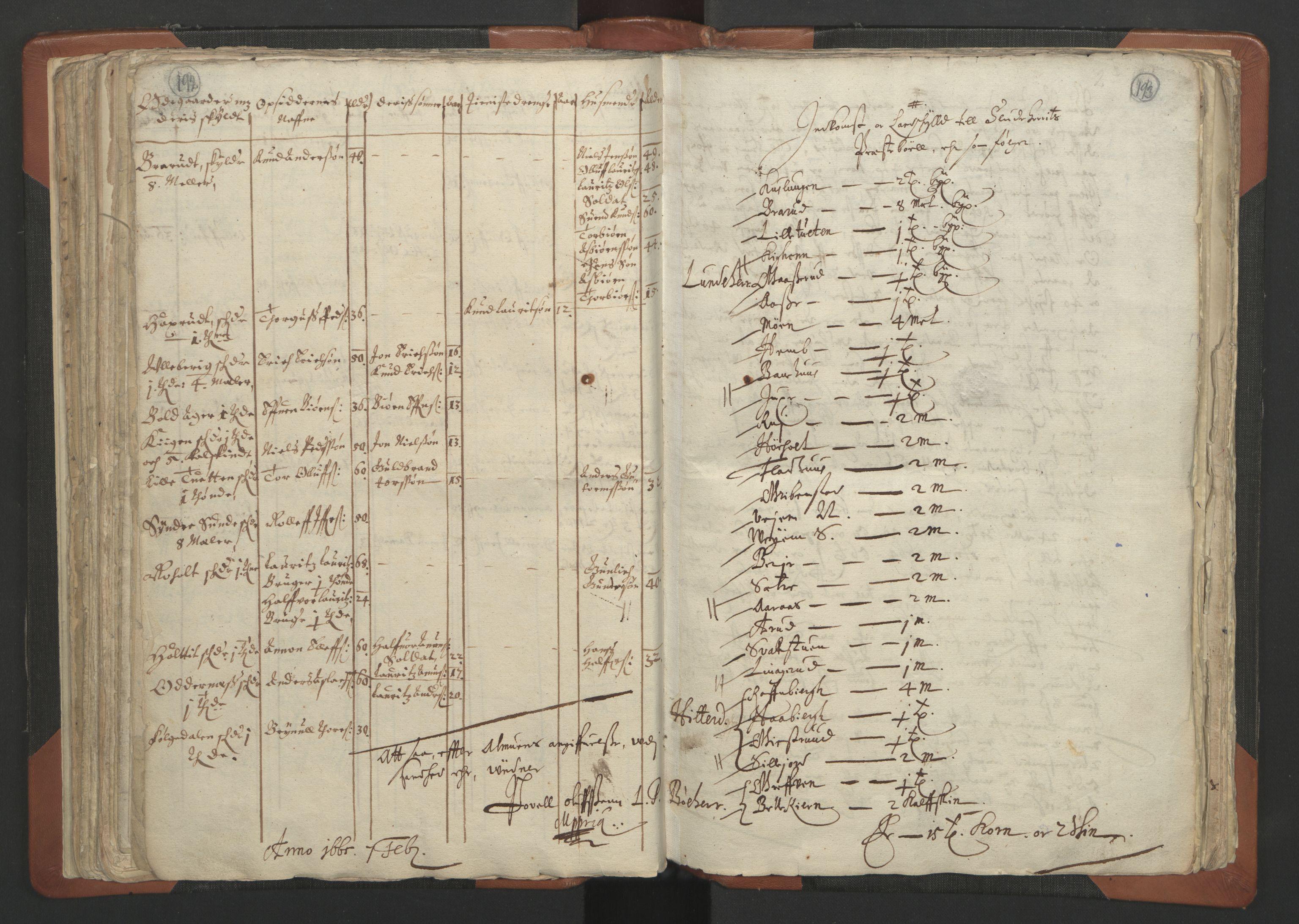 RA, Sogneprestenes manntall 1664-1666, nr. 12: Øvre Telemark prosti, Nedre Telemark prosti og Bamble prosti, 1664-1666, s. 192-193
