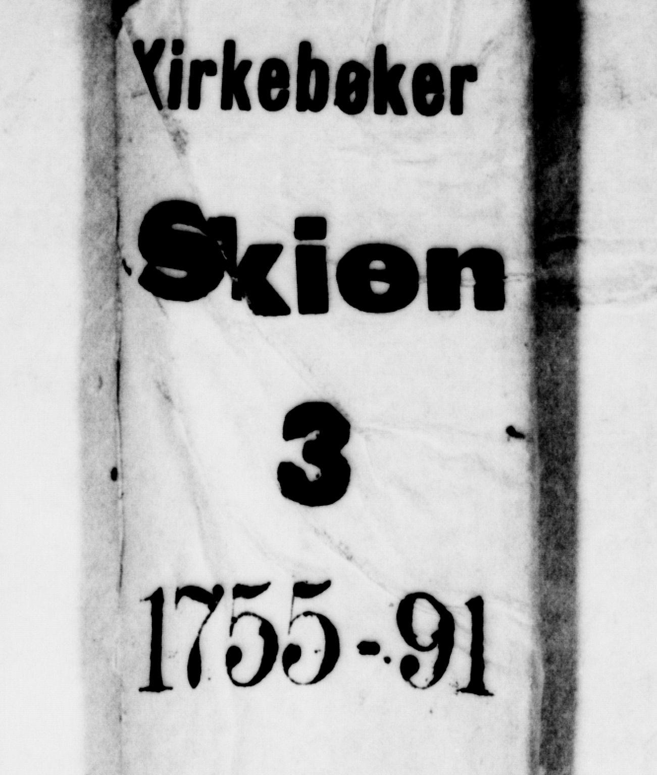 SAKO, Skien kirkebøker, G/Ga/L0001: Klokkerbok nr. 1, 1756-1791