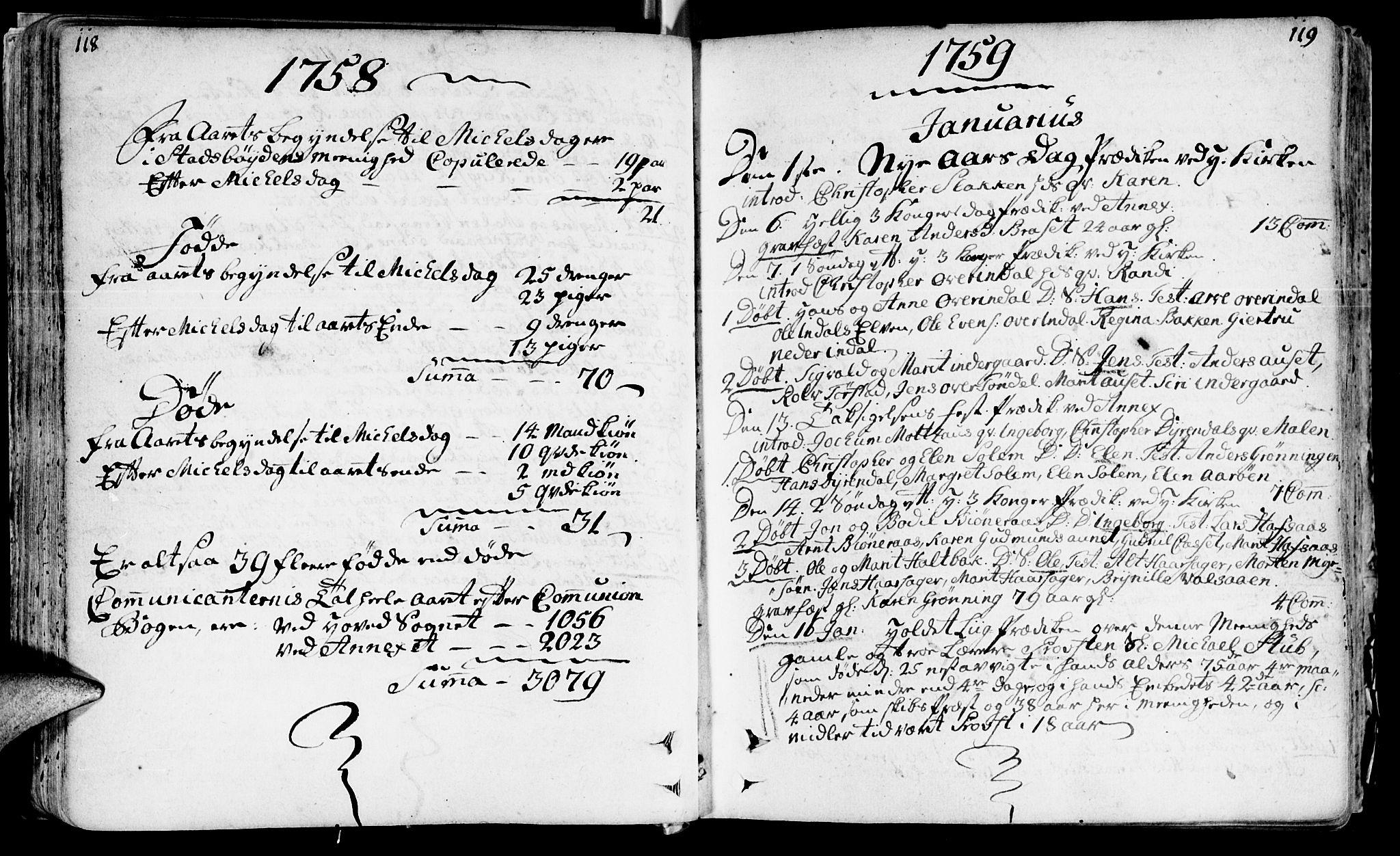 SAT, Ministerialprotokoller, klokkerbøker og fødselsregistre - Sør-Trøndelag, 646/L0605: Ministerialbok nr. 646A03, 1751-1790, s. 118-119
