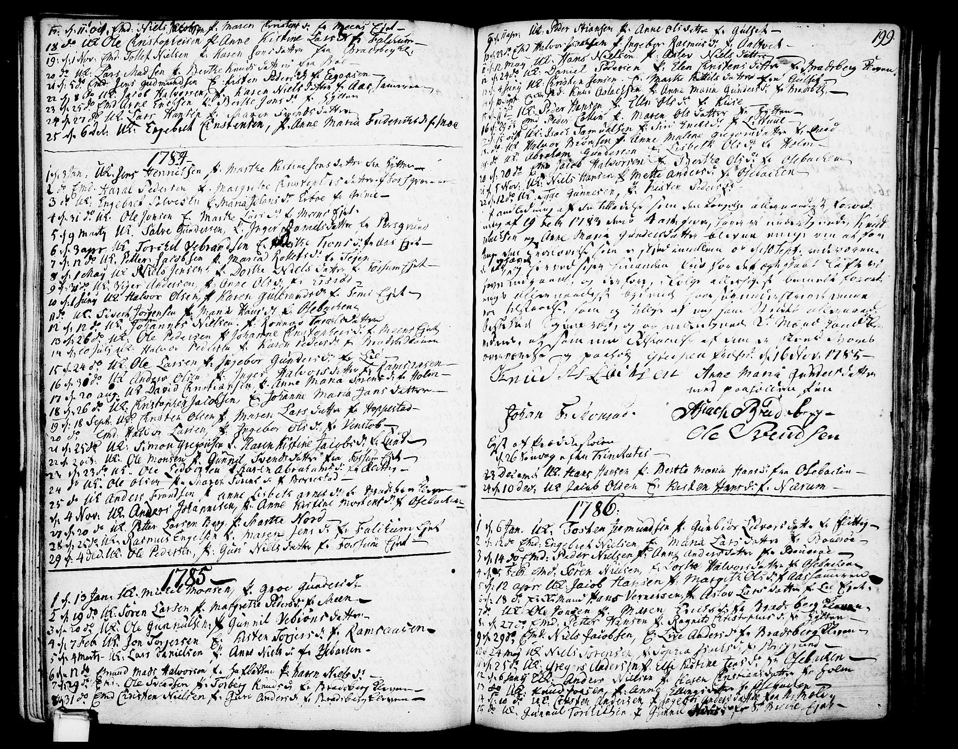 SAKO, Gjerpen kirkebøker, F/Fa/L0002: Ministerialbok nr. 2, 1747-1795, s. 199