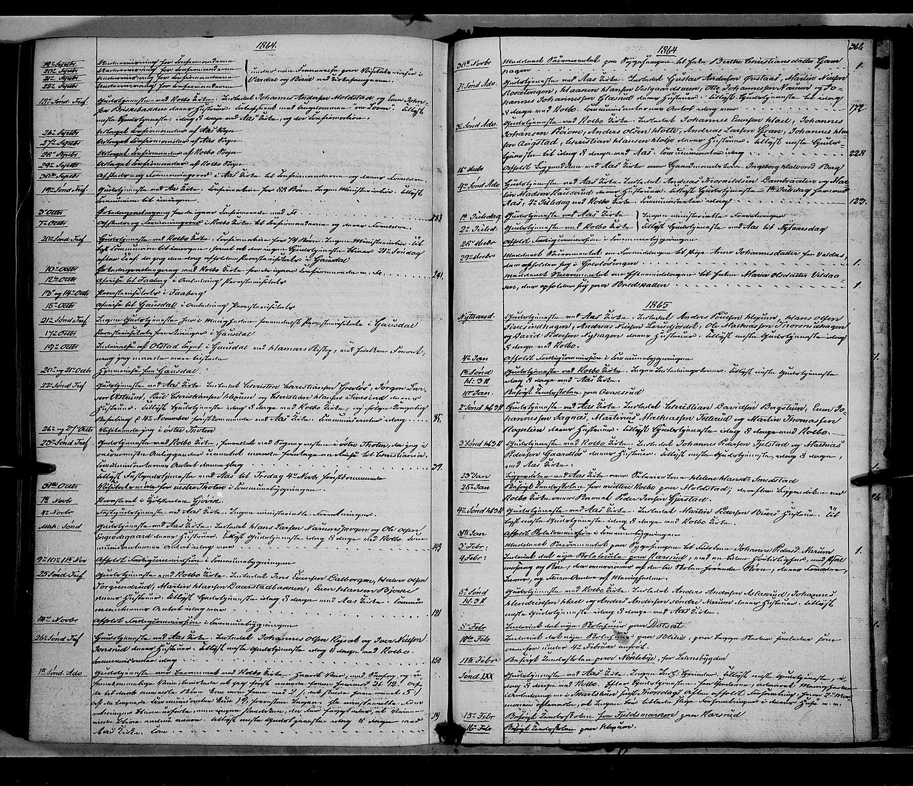 SAH, Vestre Toten prestekontor, Ministerialbok nr. 7, 1862-1869, s. 366
