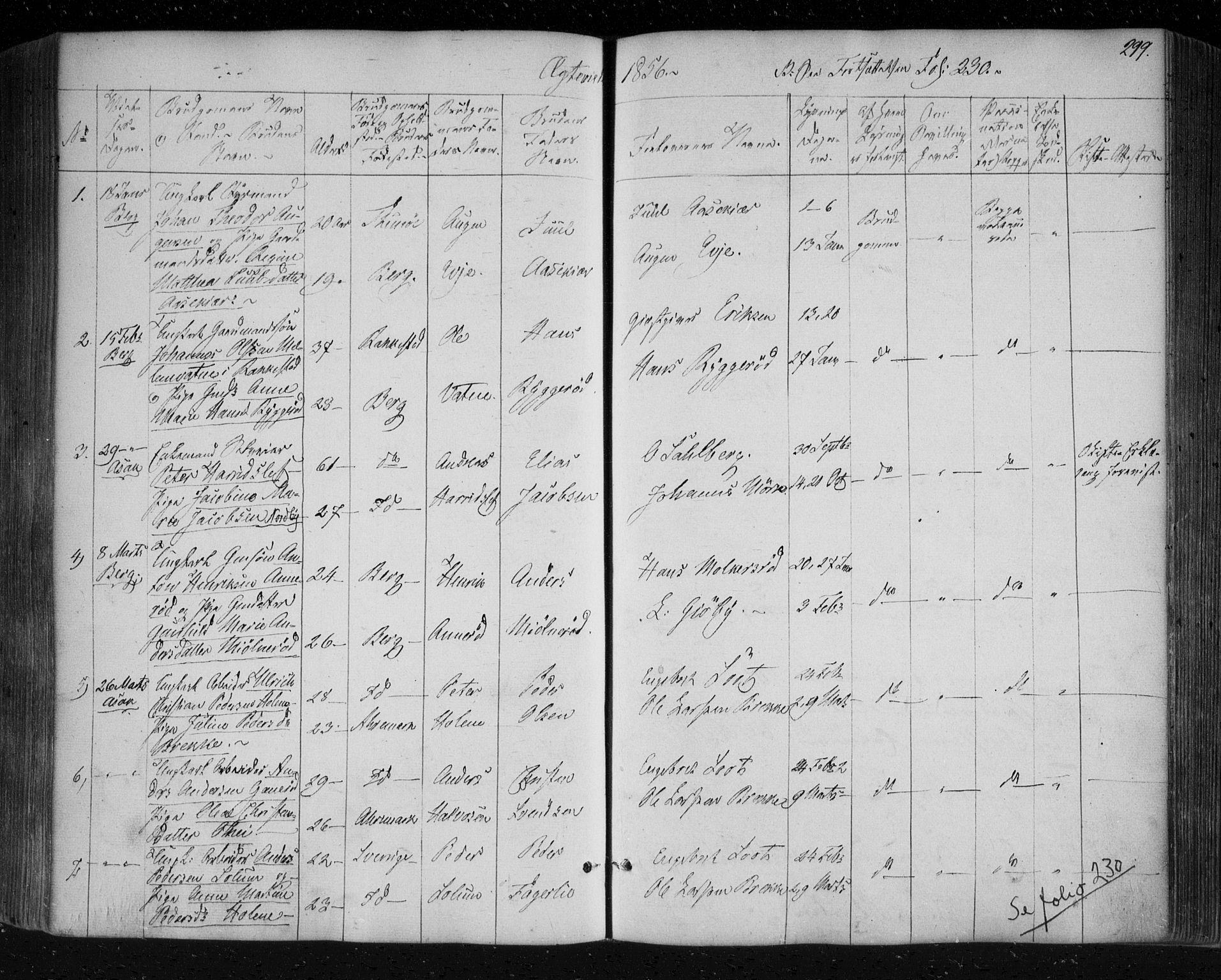SAO, Berg prestekontor Kirkebøker, F/Fa/L0004: Ministerialbok nr. I 4, 1843-1860, s. 299