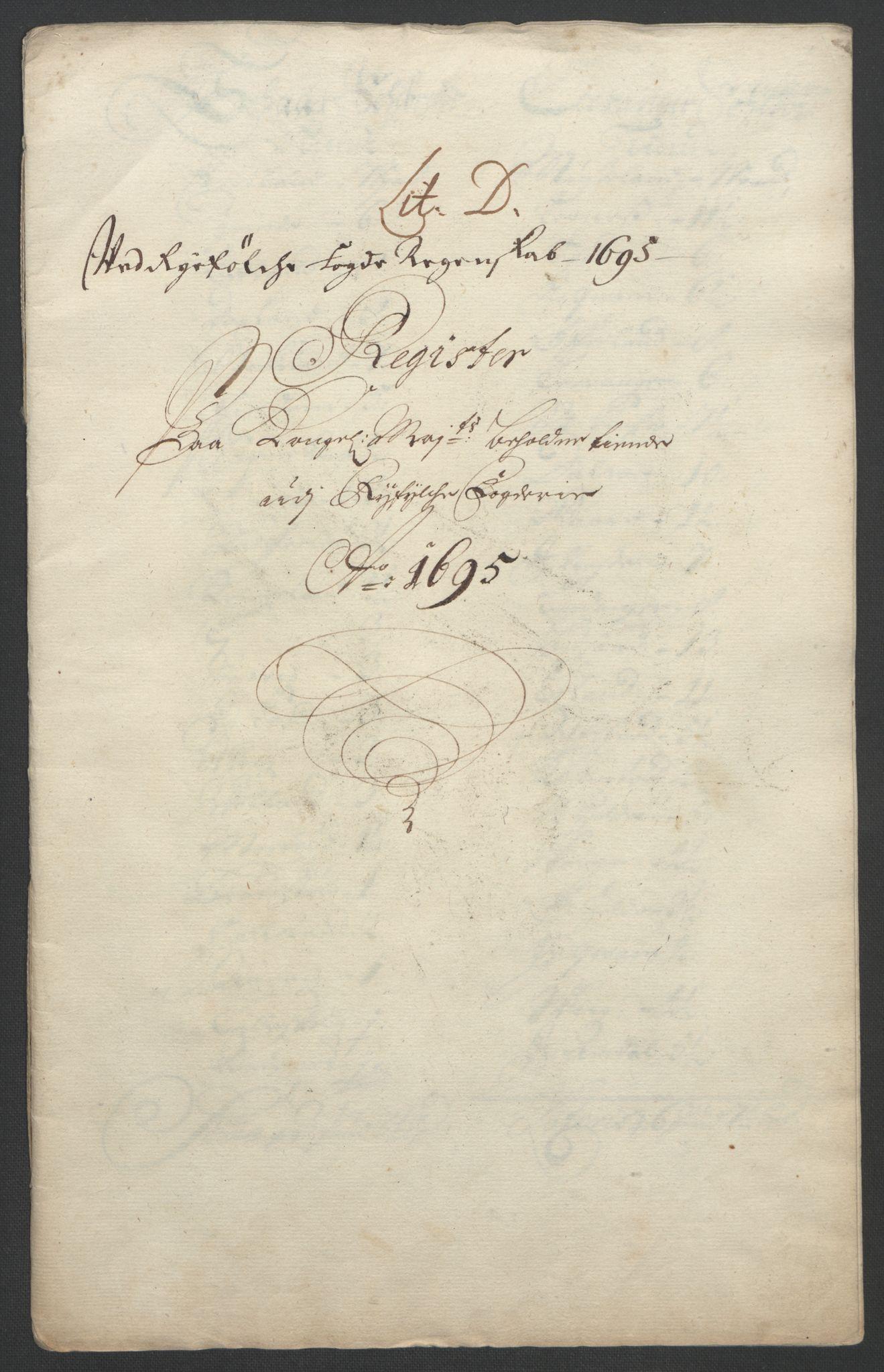 RA, Rentekammeret inntil 1814, Reviderte regnskaper, Fogderegnskap, R47/L2857: Fogderegnskap Ryfylke, 1694-1696, s. 131