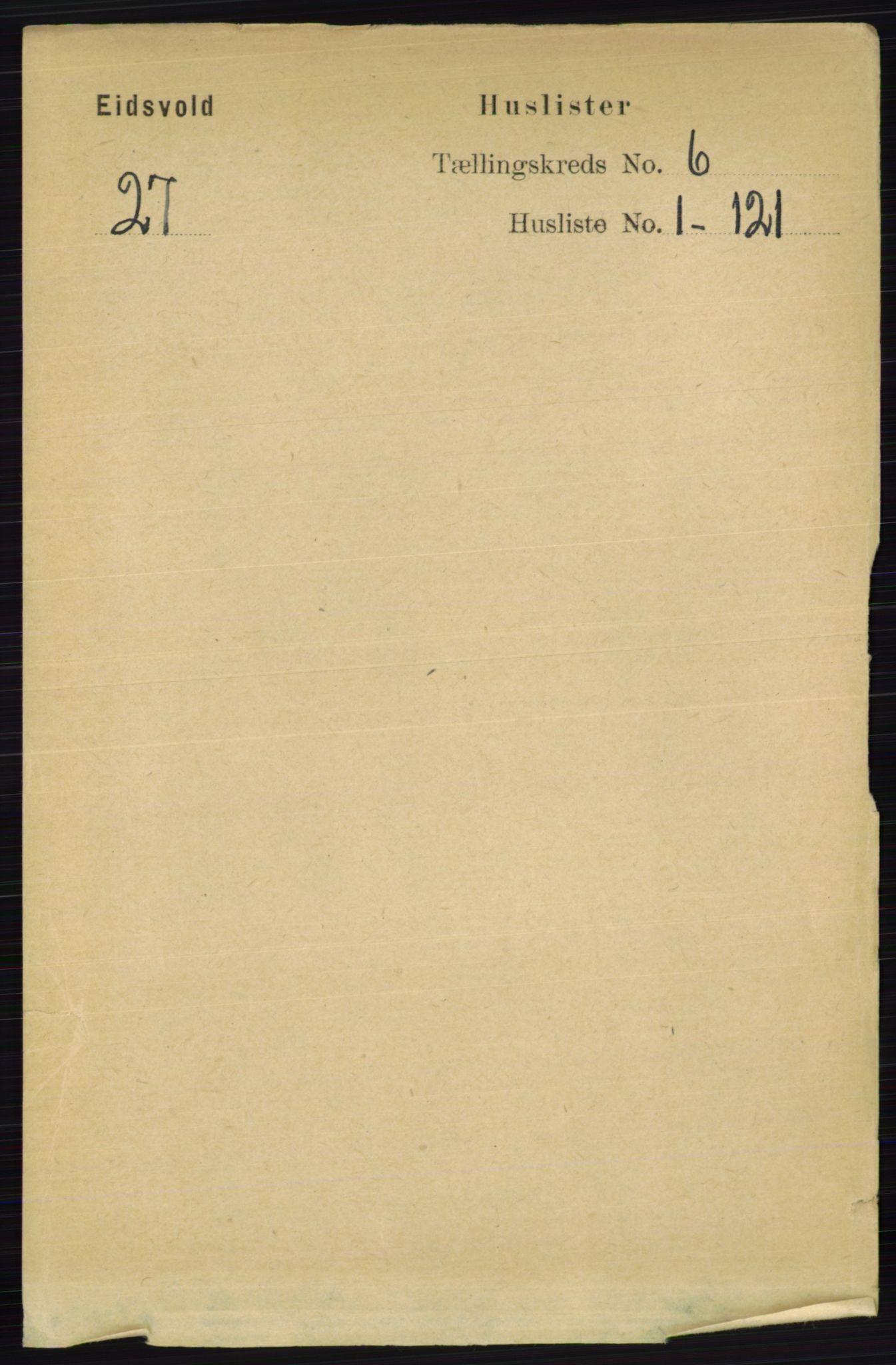RA, Folketelling 1891 for 0237 Eidsvoll herred, 1891, s. 3658