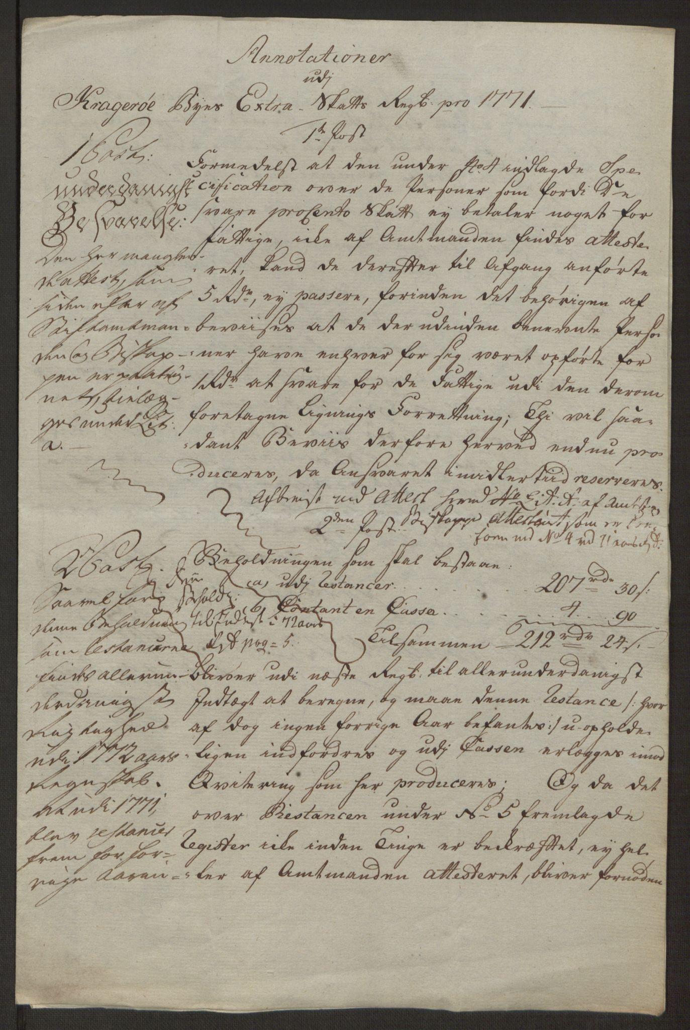 RA, Rentekammeret inntil 1814, Reviderte regnskaper, Byregnskaper, R/Rk/L0218: [K2] Kontribusjonsregnskap, 1768-1772, s. 91