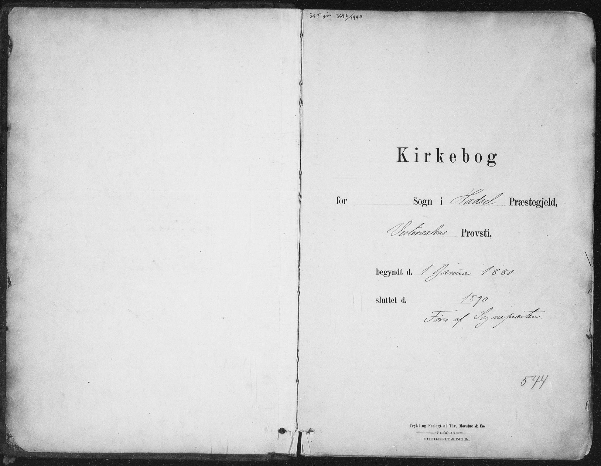 SAT, Ministerialprotokoller, klokkerbøker og fødselsregistre - Nordland, 888/L1244: Ministerialbok nr. 888A10, 1880-1890