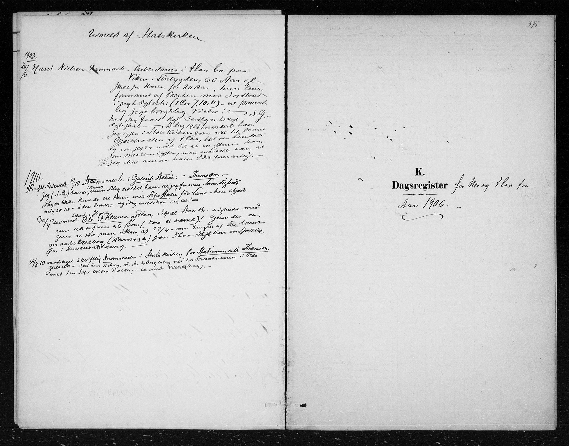 SAKO, Nes kirkebøker, F/Fa/L0012: Ministerialbok nr. 12, 1881-1917, s. 375
