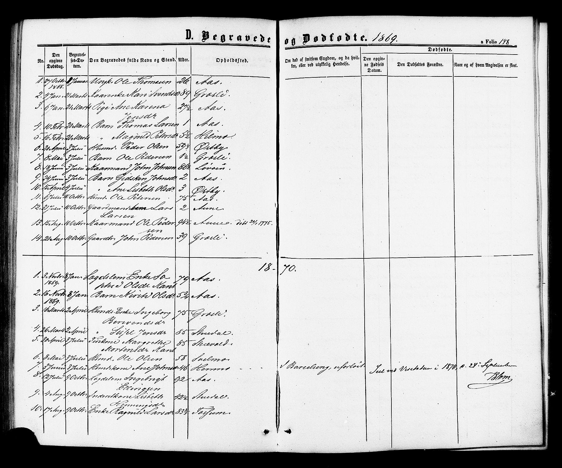 SAT, Ministerialprotokoller, klokkerbøker og fødselsregistre - Sør-Trøndelag, 698/L1163: Ministerialbok nr. 698A01, 1862-1887, s. 148