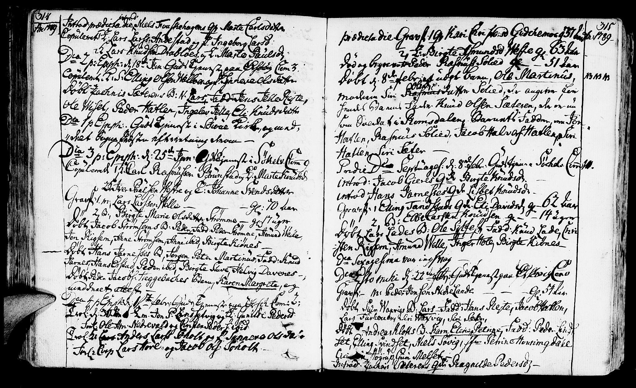SAT, Ministerialprotokoller, klokkerbøker og fødselsregistre - Møre og Romsdal, 522/L0308: Ministerialbok nr. 522A03, 1773-1809, s. 314-315