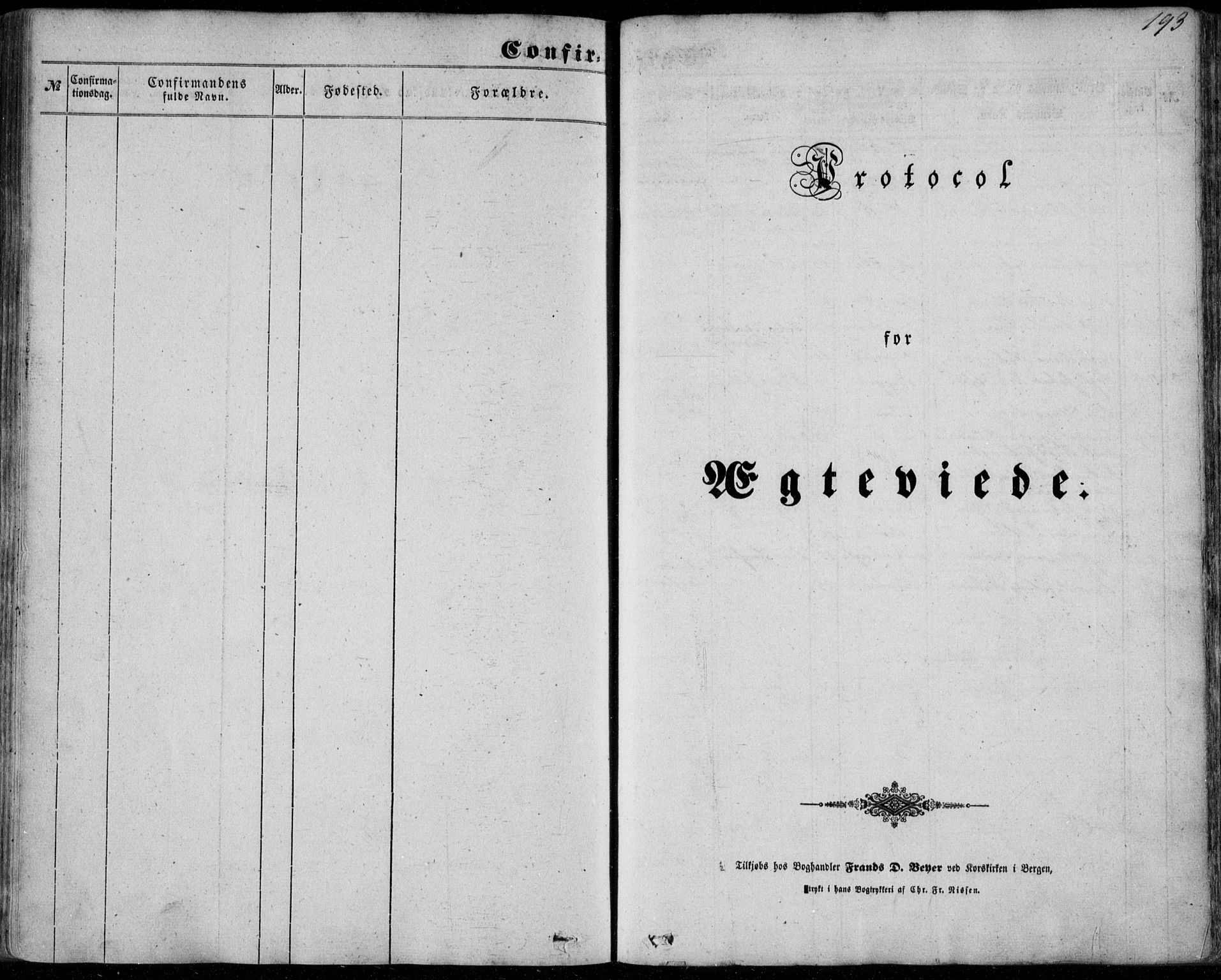 SAB, Manger sokneprestembete, H/Haa: Ministerialbok nr. A 6, 1849-1859, s. 193