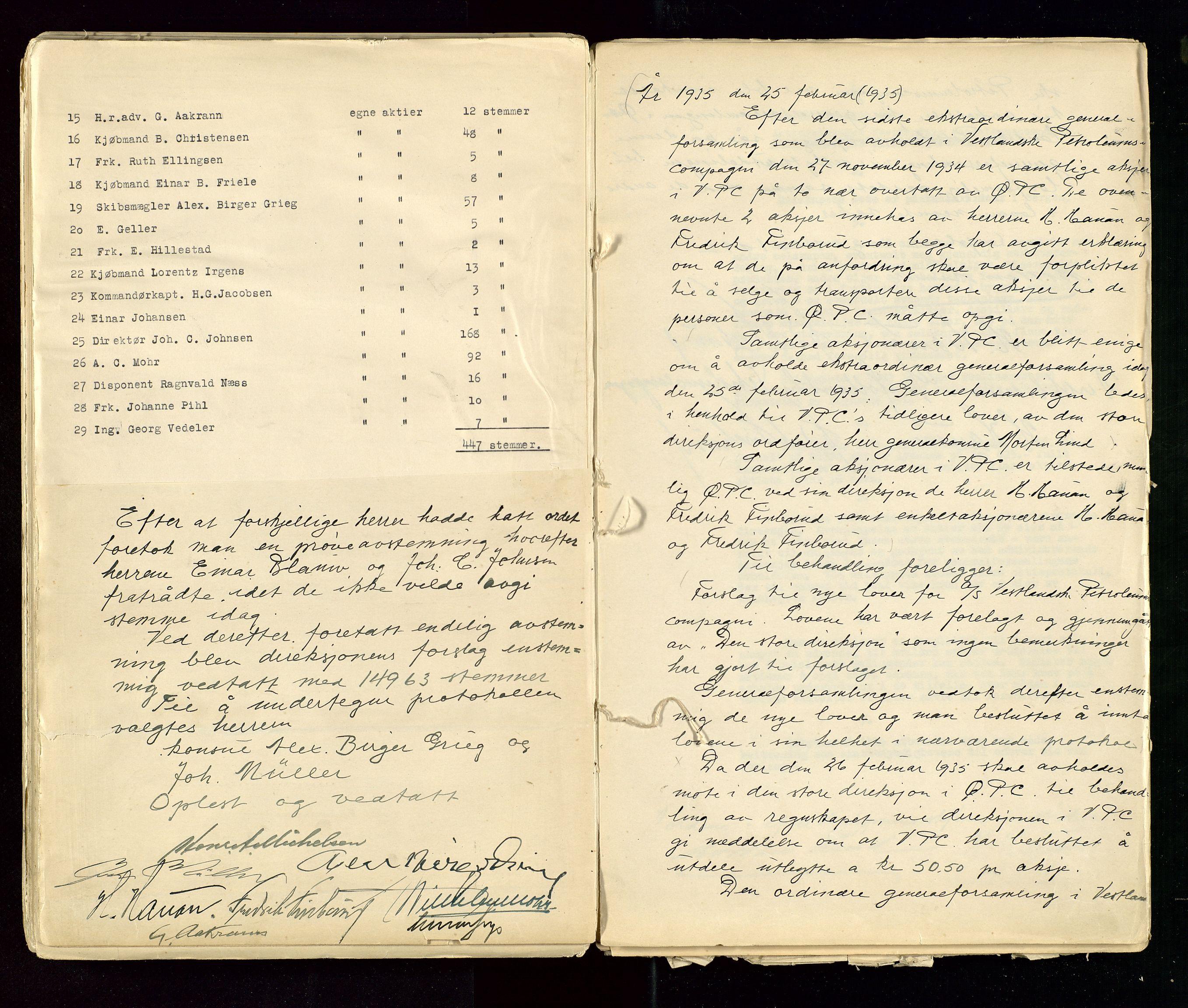 SAST, PA 1533 - A/S Vestlandske Petroleumscompani, A/Aa/L0001: Generalforsamlinger og styreprotokoller, 1890-1953, s. 106