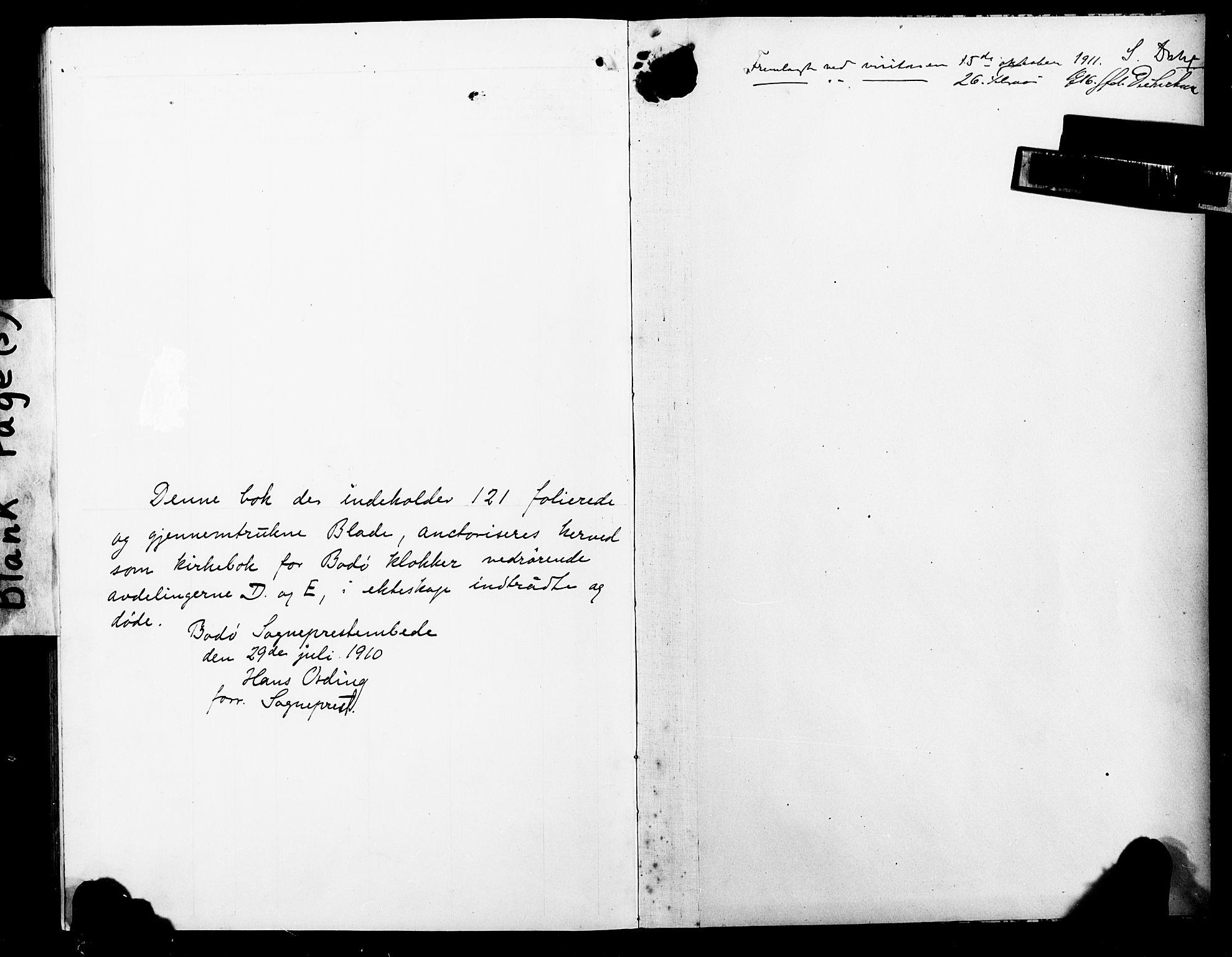 SAT, Ministerialprotokoller, klokkerbøker og fødselsregistre - Nordland, 801/L0035: Klokkerbok nr. 801C10, 1910-1923