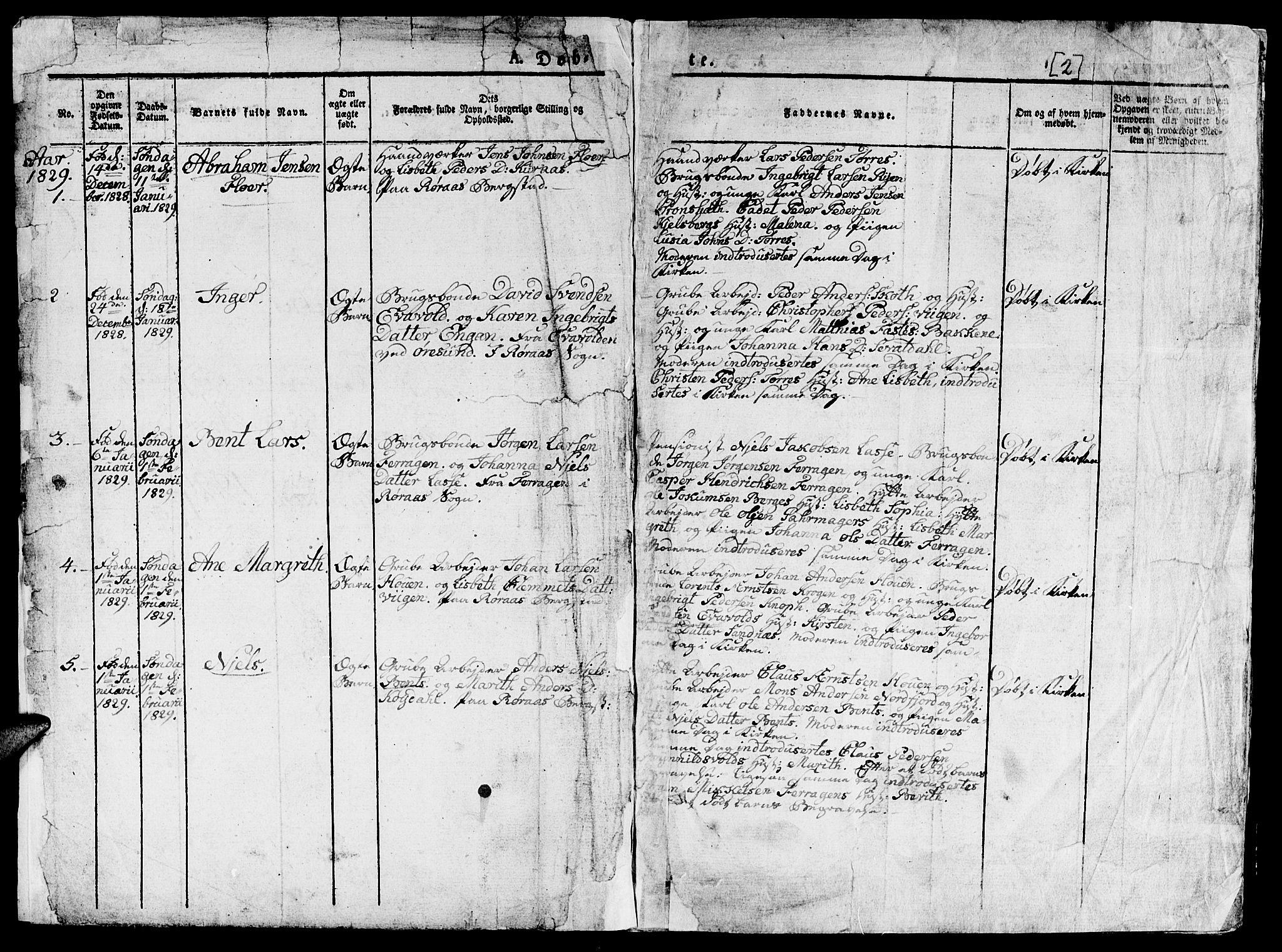 SAT, Ministerialprotokoller, klokkerbøker og fødselsregistre - Sør-Trøndelag, 681/L0938: Klokkerbok nr. 681C02, 1829-1879, s. 2