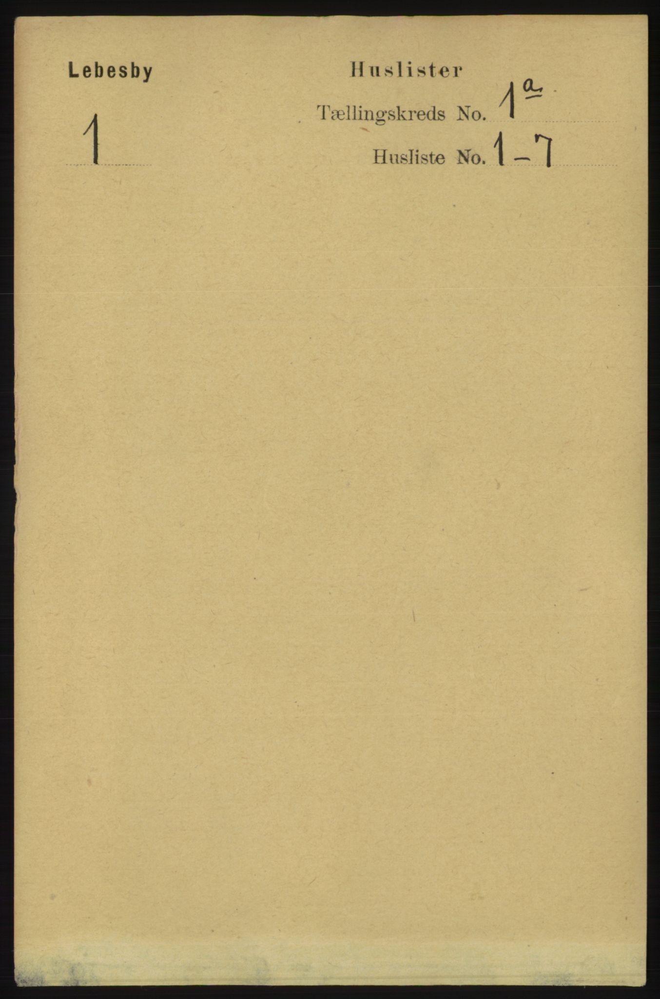 RA, Folketelling 1891 for 2022 Lebesby herred, 1891, s. 19