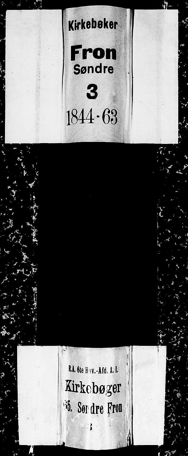 SAH, Sør-Fron prestekontor, H/Ha/Hab/L0001: Klokkerbok nr. 1, 1844-1863