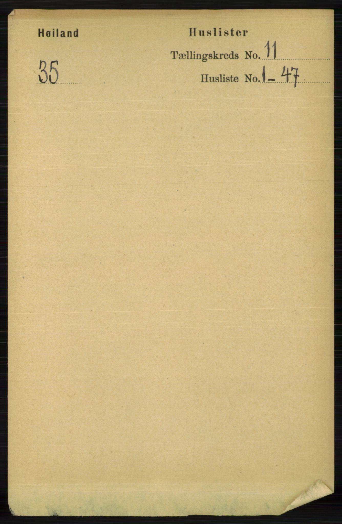RA, Folketelling 1891 for 1123 Høyland herred, 1891, s. 4412