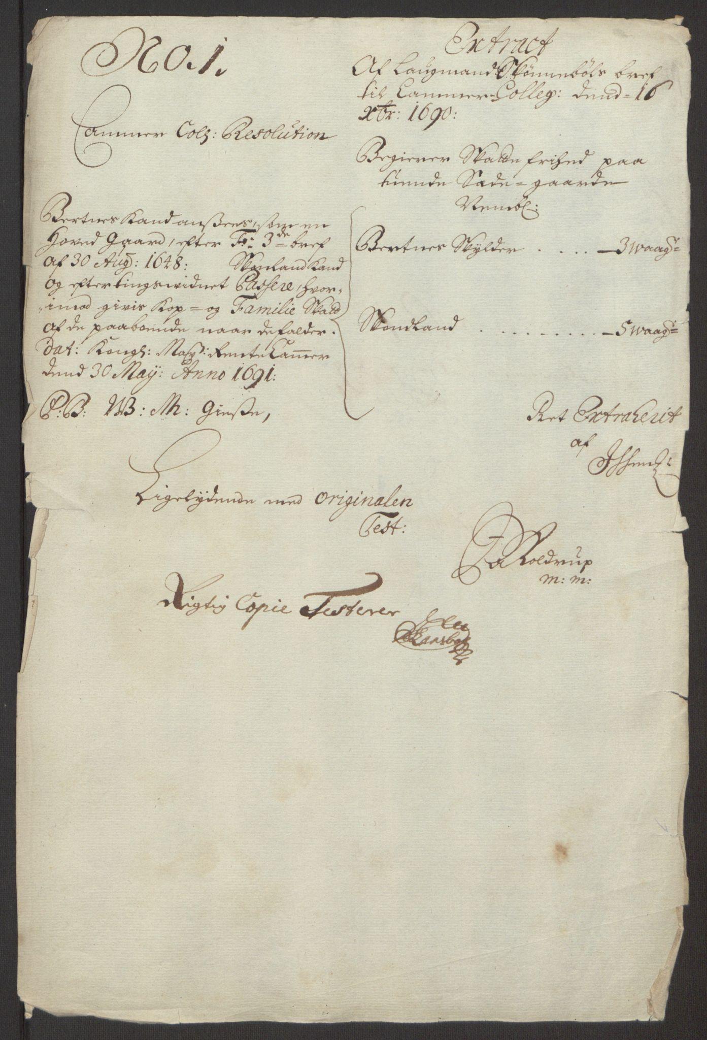 RA, Rentekammeret inntil 1814, Reviderte regnskaper, Fogderegnskap, R66/L4577: Fogderegnskap Salten, 1691-1693, s. 111