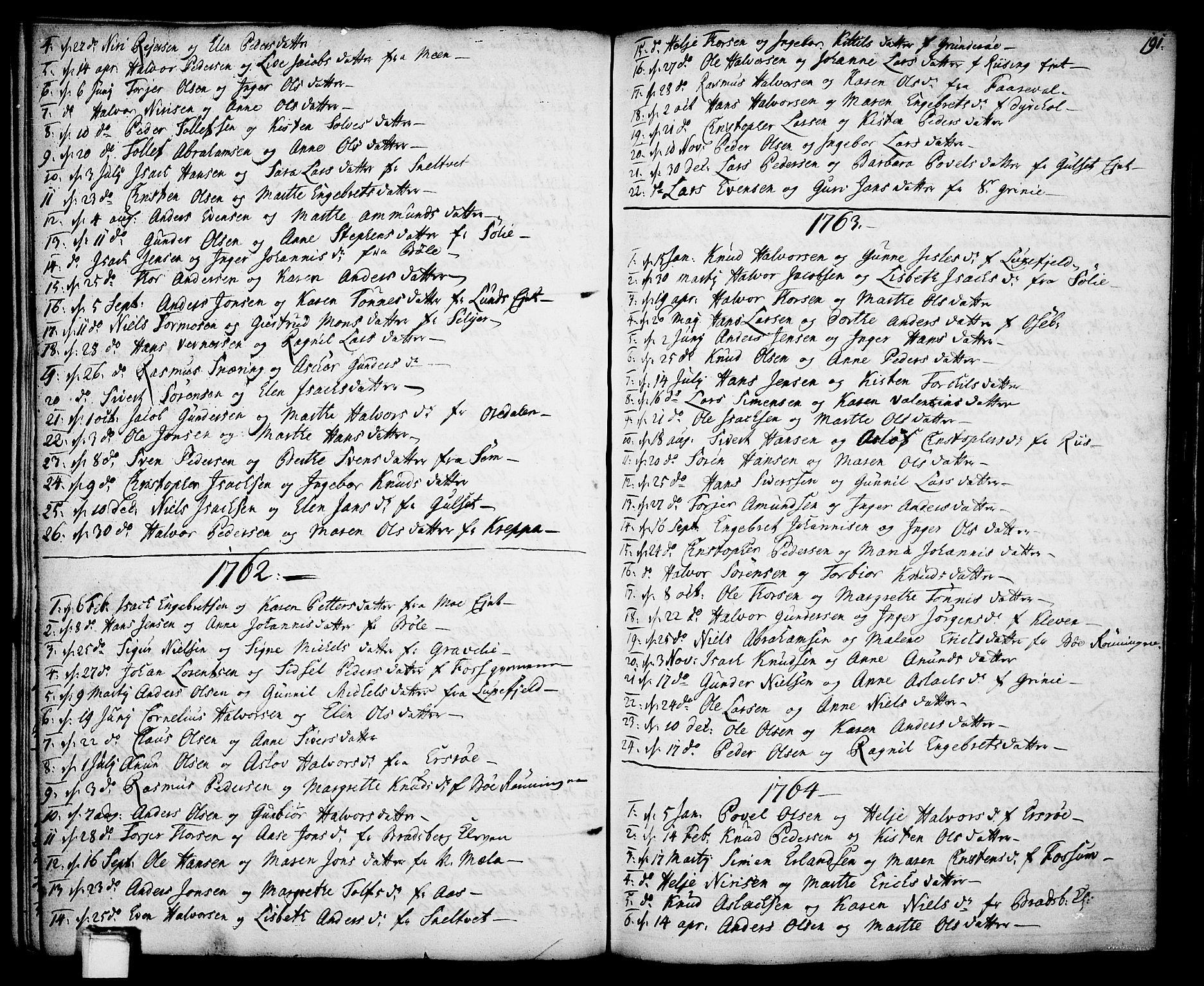 SAKO, Gjerpen kirkebøker, F/Fa/L0002: Ministerialbok nr. 2, 1747-1795, s. 191