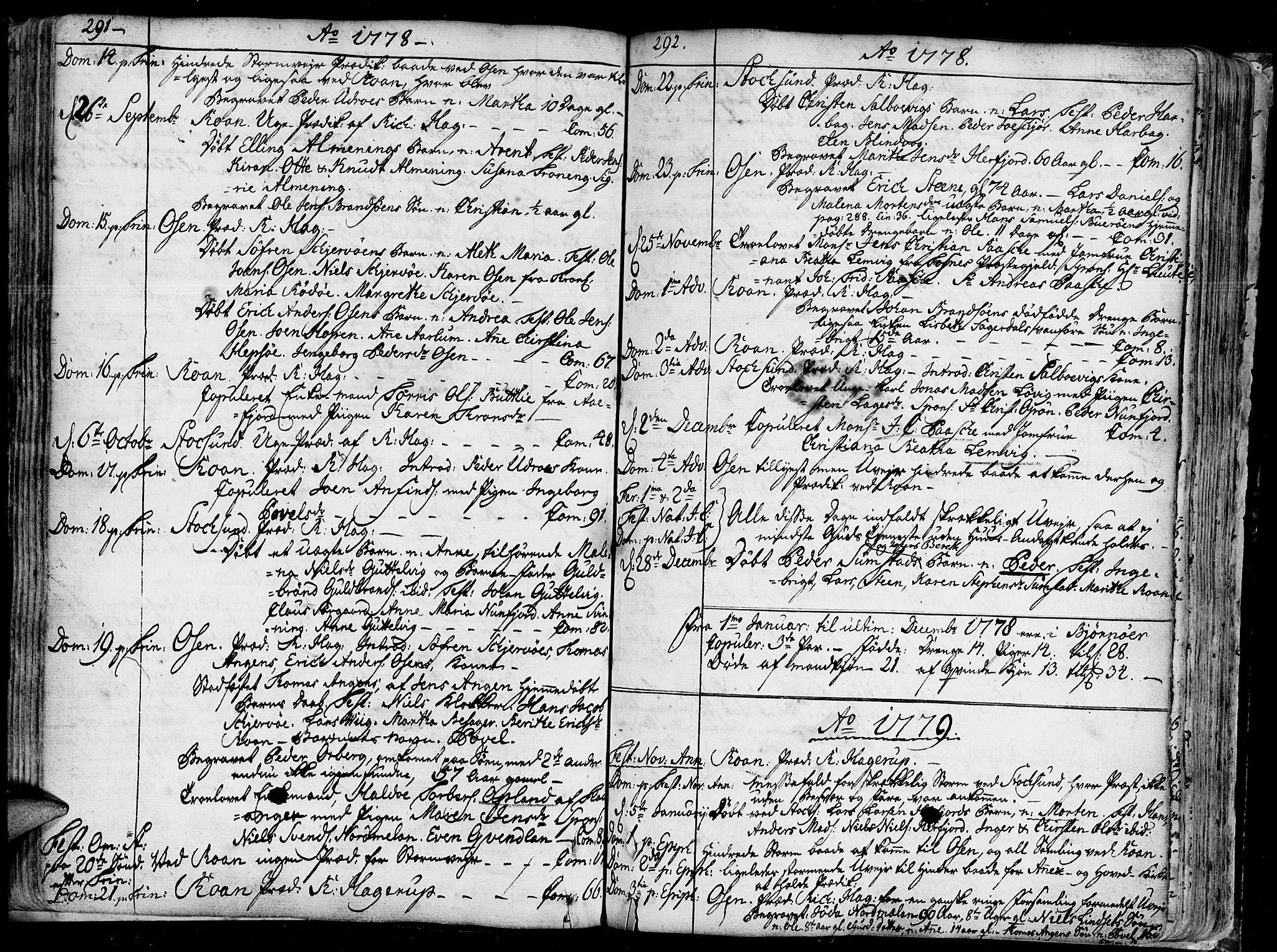 SAT, Ministerialprotokoller, klokkerbøker og fødselsregistre - Sør-Trøndelag, 657/L0700: Ministerialbok nr. 657A01, 1732-1801, s. 291-292