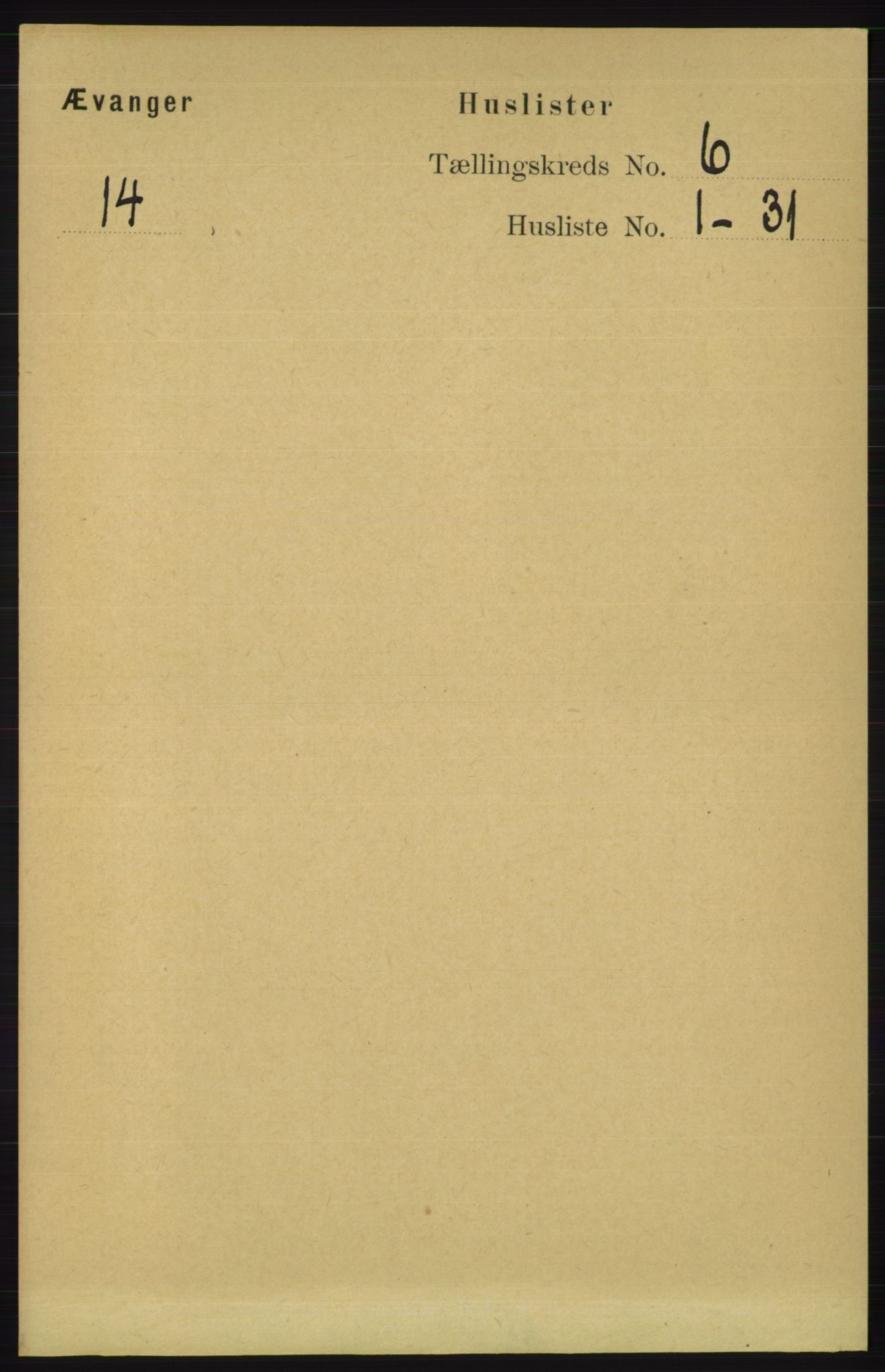 RA, Folketelling 1891 for 1237 Evanger herred, 1891, s. 1579