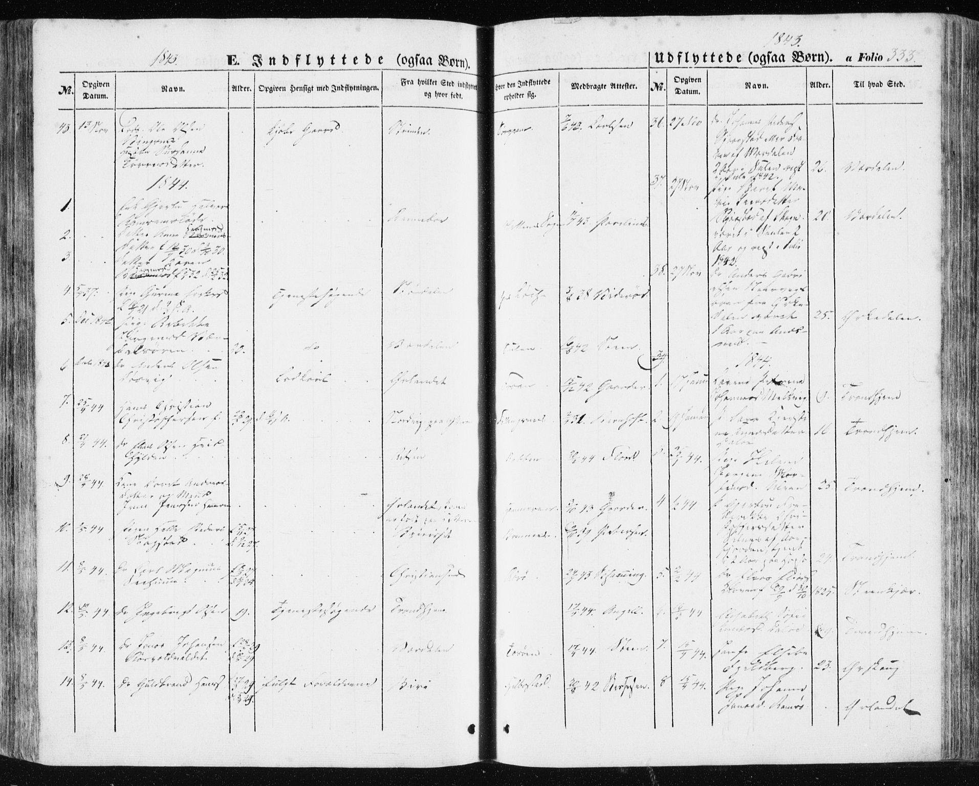 SAT, Ministerialprotokoller, klokkerbøker og fødselsregistre - Sør-Trøndelag, 634/L0529: Ministerialbok nr. 634A05, 1843-1851, s. 333