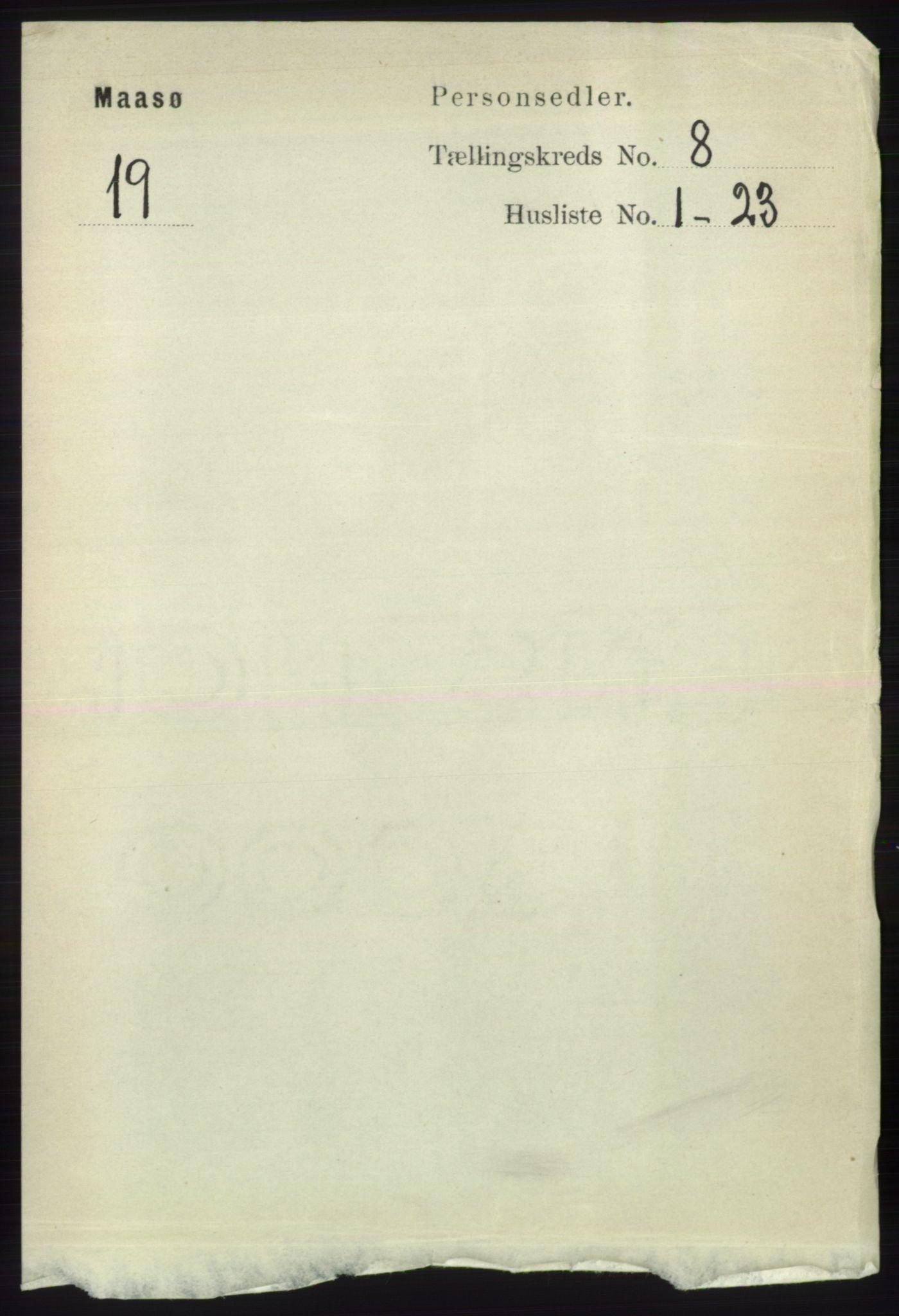 RA, Folketelling 1891 for 2018 Måsøy herred, 1891, s. 1521