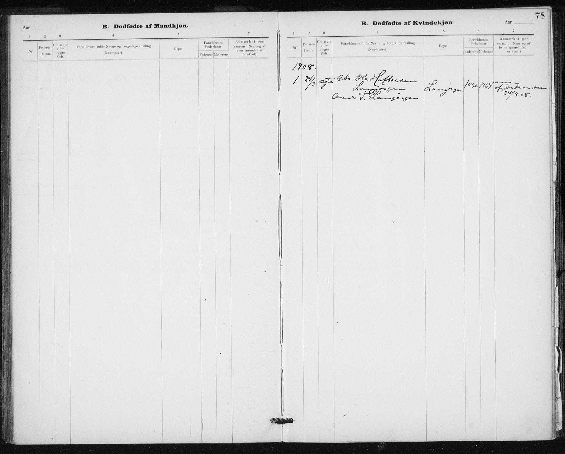 SAT, Ministerialprotokoller, klokkerbøker og fødselsregistre - Sør-Trøndelag, 612/L0381: Ministerialbok nr. 612A13, 1907-1923, s. 78