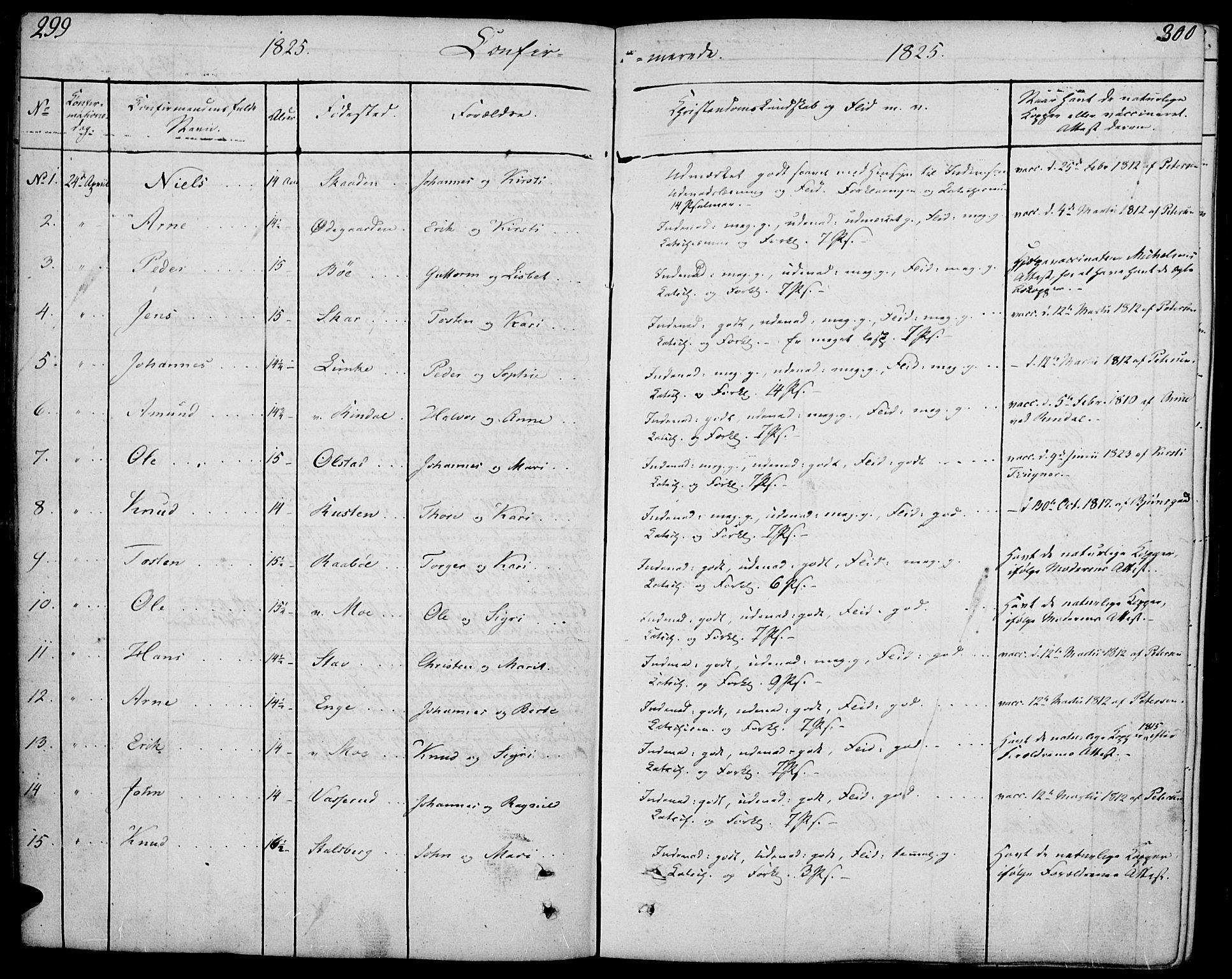SAH, Øyer prestekontor, Ministerialbok nr. 4, 1824-1841, s. 299-300