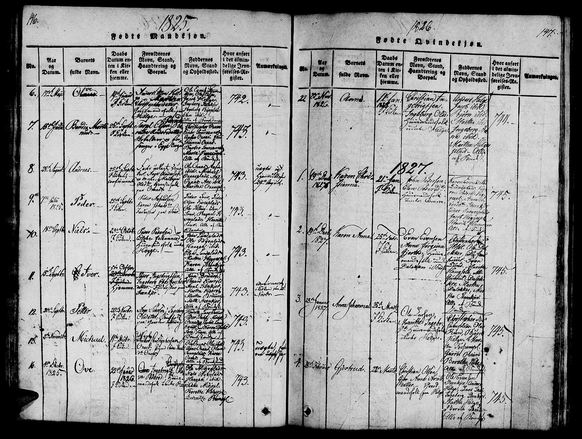 SAT, Ministerialprotokoller, klokkerbøker og fødselsregistre - Nord-Trøndelag, 746/L0441: Ministerialbok nr. 736A03 /3, 1816-1827, s. 146-147