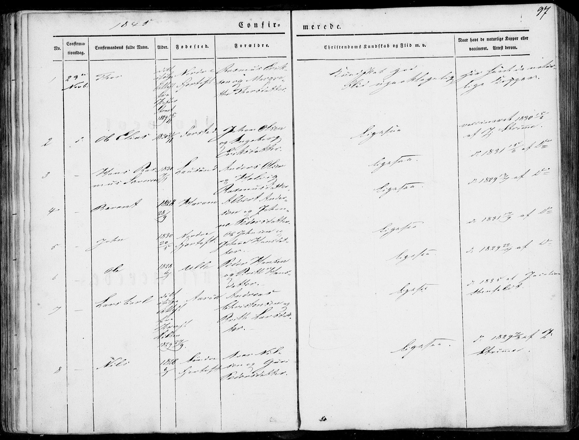 SAT, Ministerialprotokoller, klokkerbøker og fødselsregistre - Møre og Romsdal, 536/L0497: Ministerialbok nr. 536A06, 1845-1865, s. 97