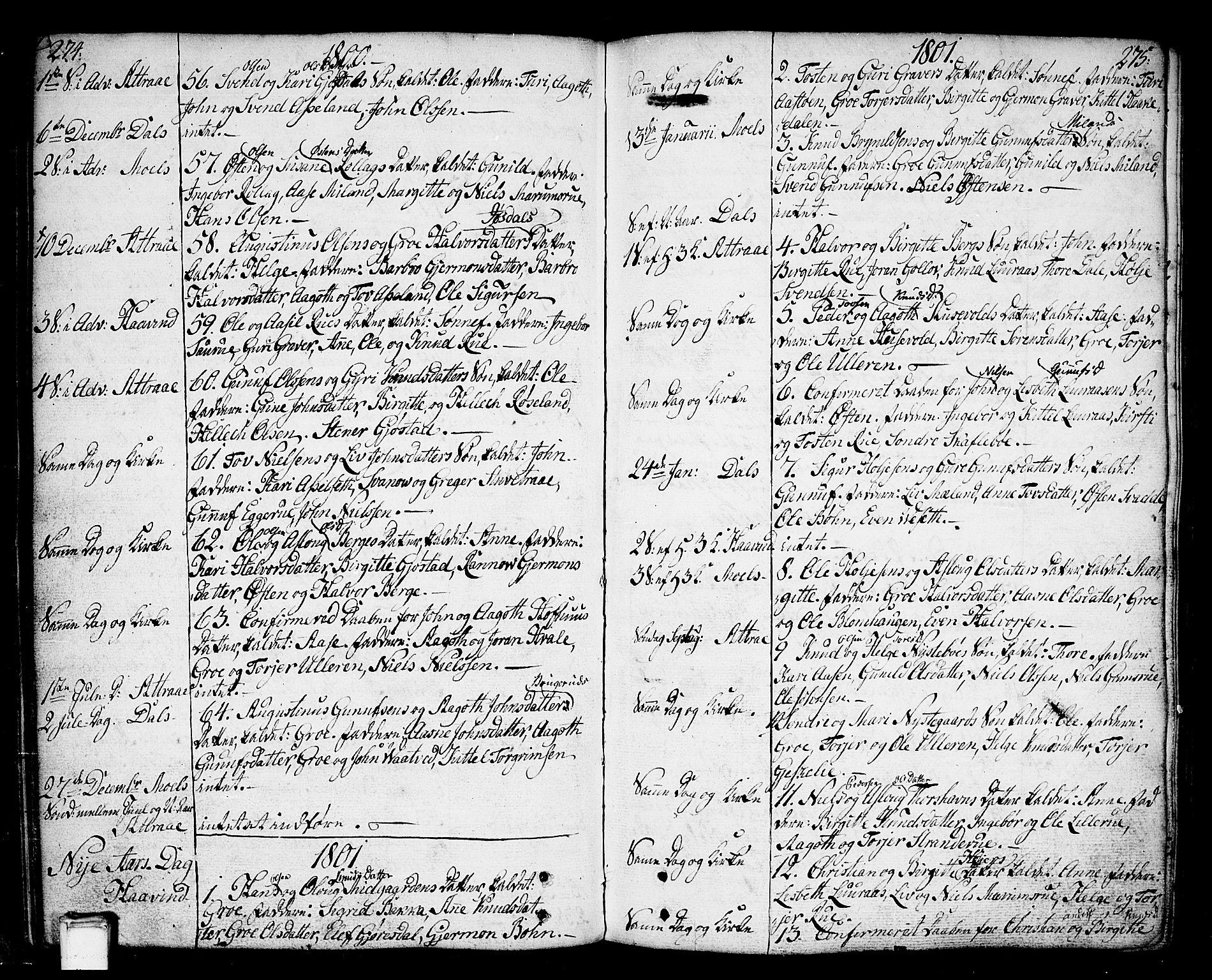 SAKO, Tinn kirkebøker, F/Fa/L0002: Ministerialbok nr. I 2, 1757-1810, s. 274-275