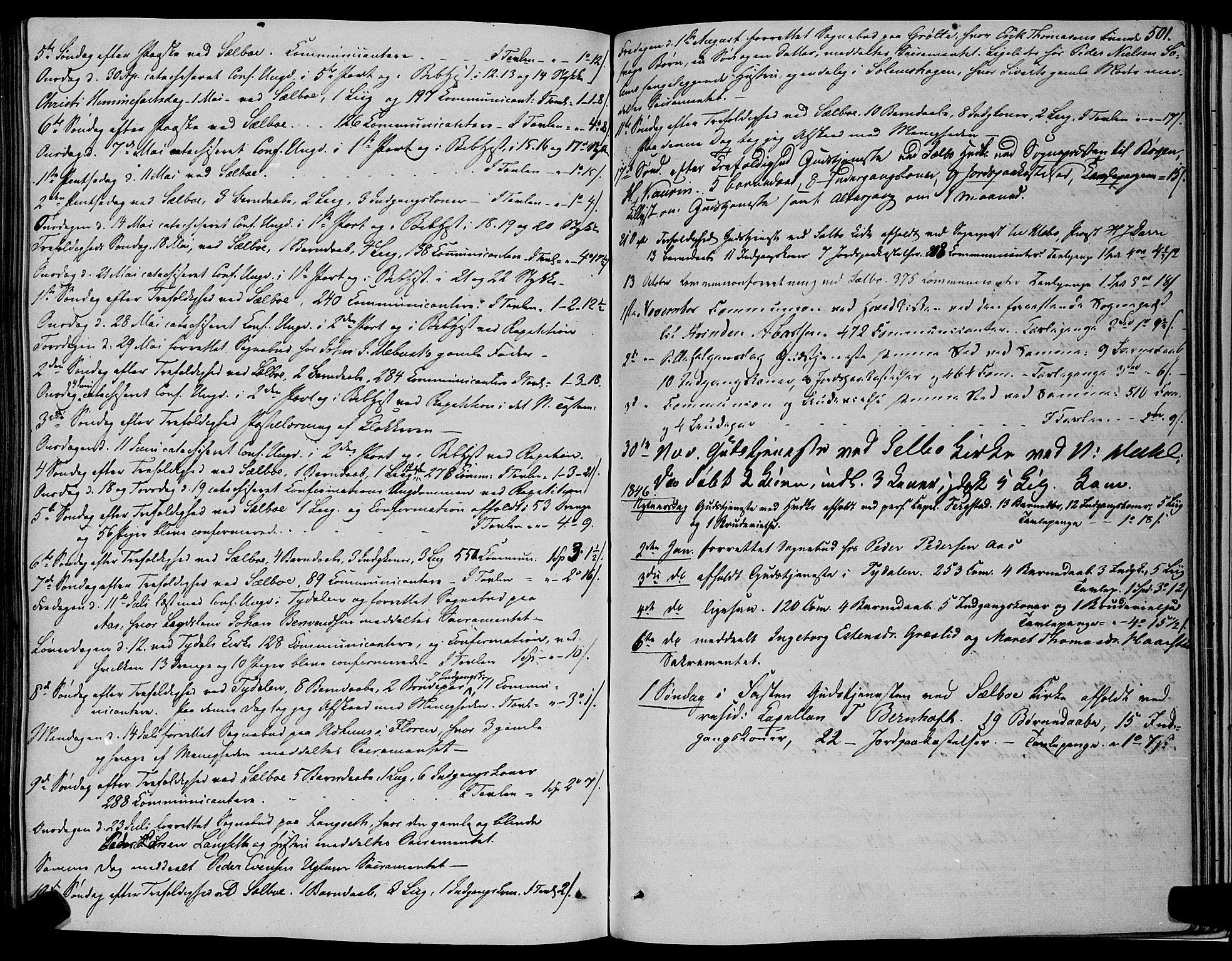 SAT, Ministerialprotokoller, klokkerbøker og fødselsregistre - Sør-Trøndelag, 695/L1145: Ministerialbok nr. 695A06 /1, 1843-1859, s. 501