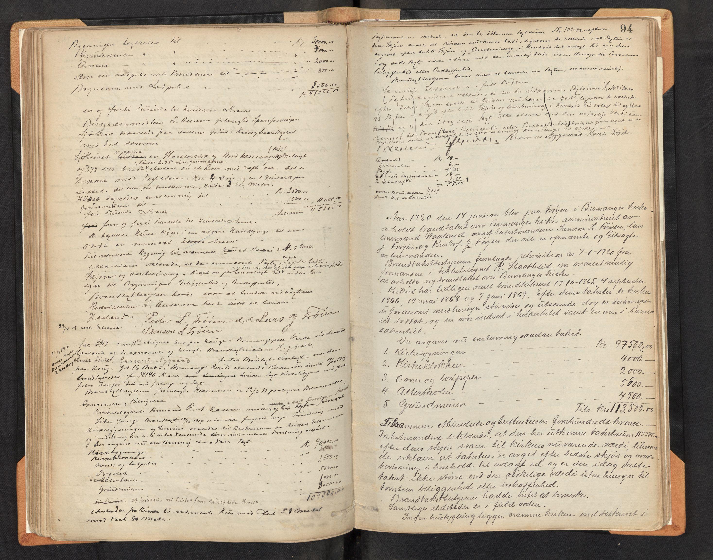 SAB, Lensmannen i Bremanger, 0012/L0002: Branntakstprotokoll, 1879-1947, s. 93b-94a