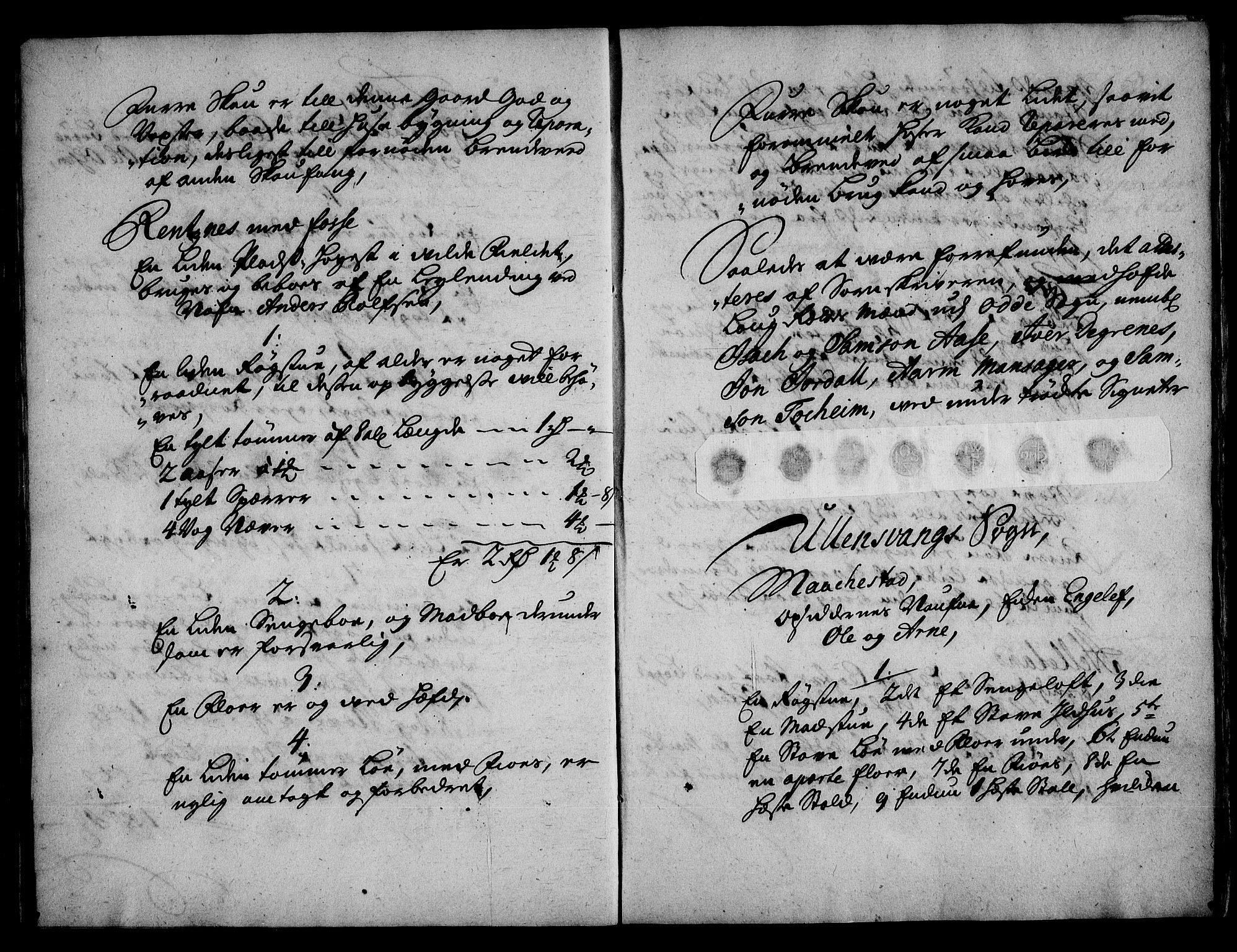 RA, Rentekammeret inntil 1814, Realistisk ordnet avdeling, On/L0003: [Jj 4]: Kommisjonsforretning over Vilhelm Hanssøns forpaktning av Halsnøy klosters gods, 1721-1729, s. 97