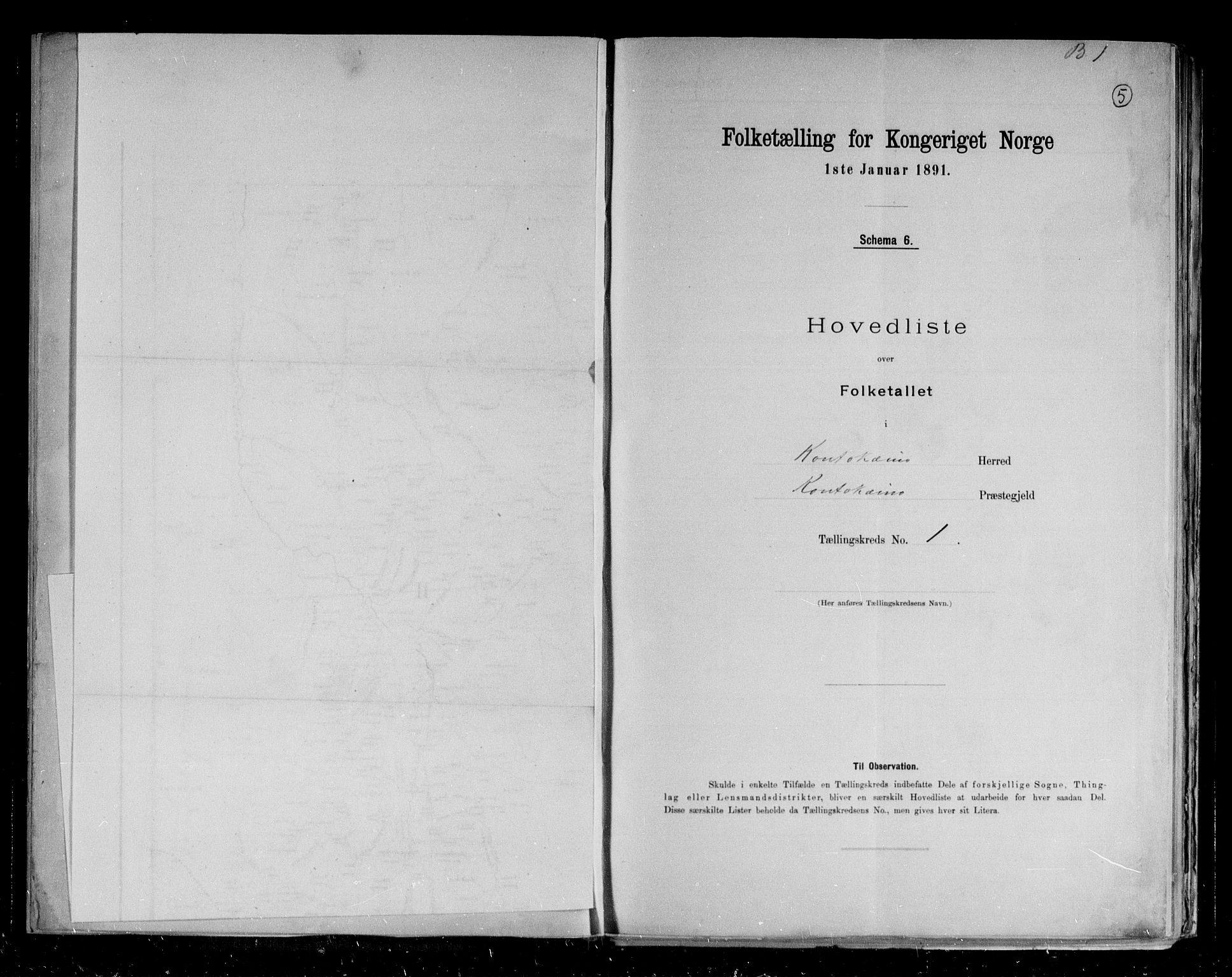 RA, Folketelling 1891 for 2011 Kautokeino herred, 1891, s. 6