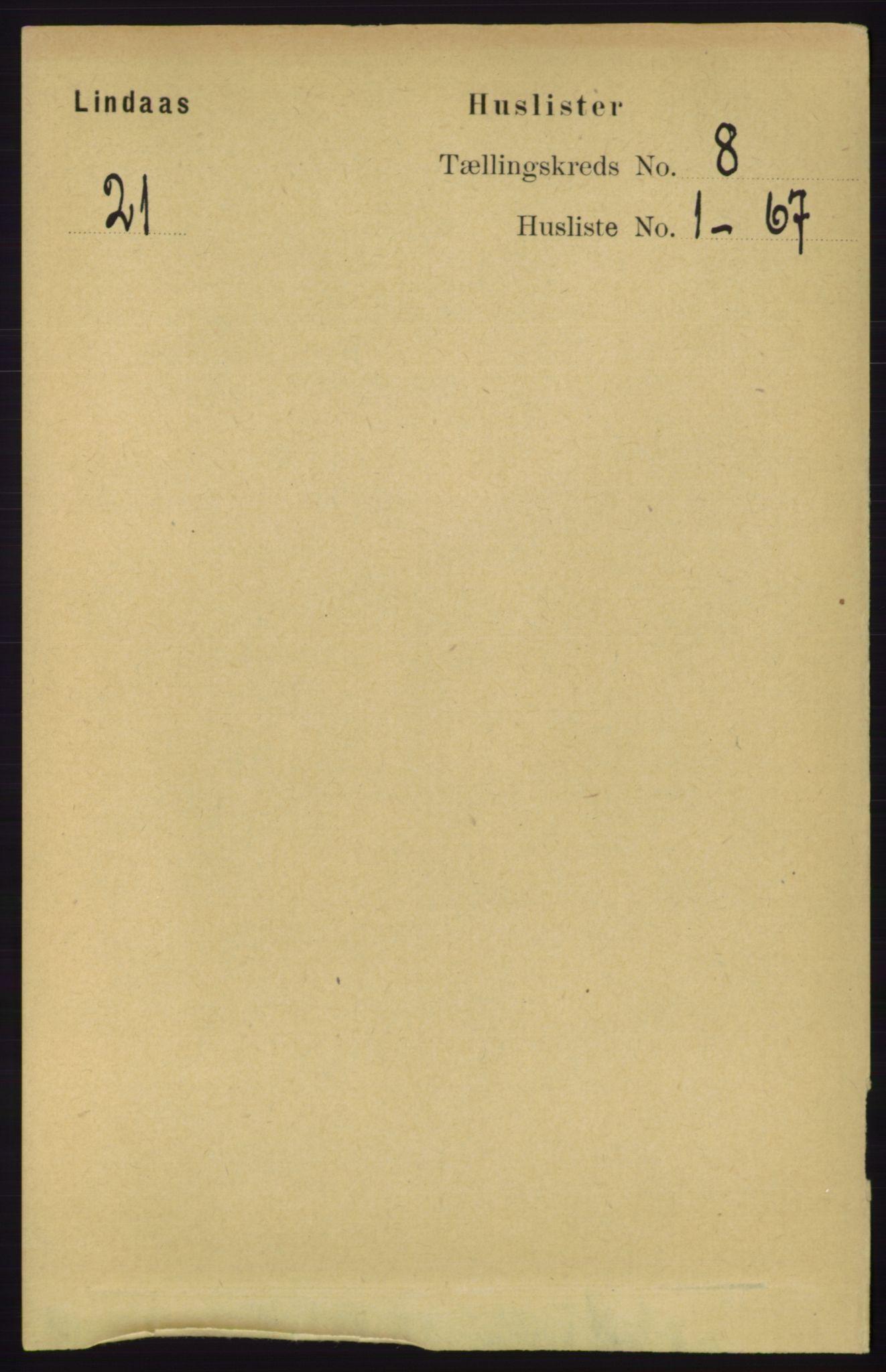 RA, Folketelling 1891 for 1263 Lindås herred, 1891, s. 2352