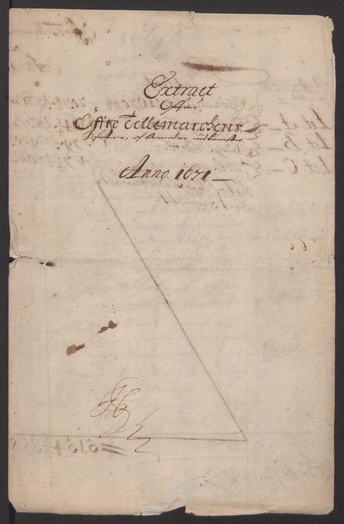 RA, Rentekammeret inntil 1814, Reviderte regnskaper, Fogderegnskap, R35/L2060: Fogderegnskap Øvre og Nedre Telemark, 1671-1672, s. 3