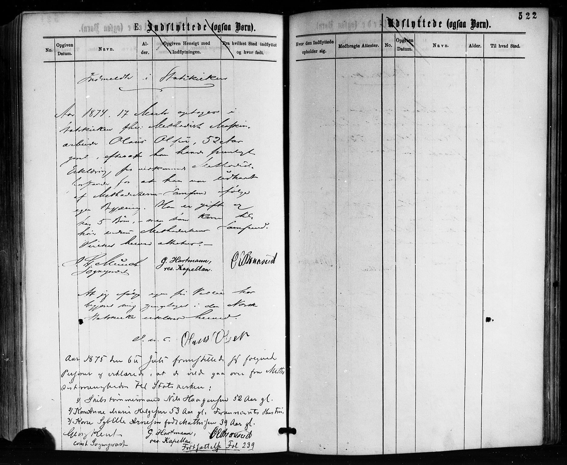 SAKO, Horten kirkebøker, F/Fa/L0002: Ministerialbok nr. 2, 1872-1877, s. 522
