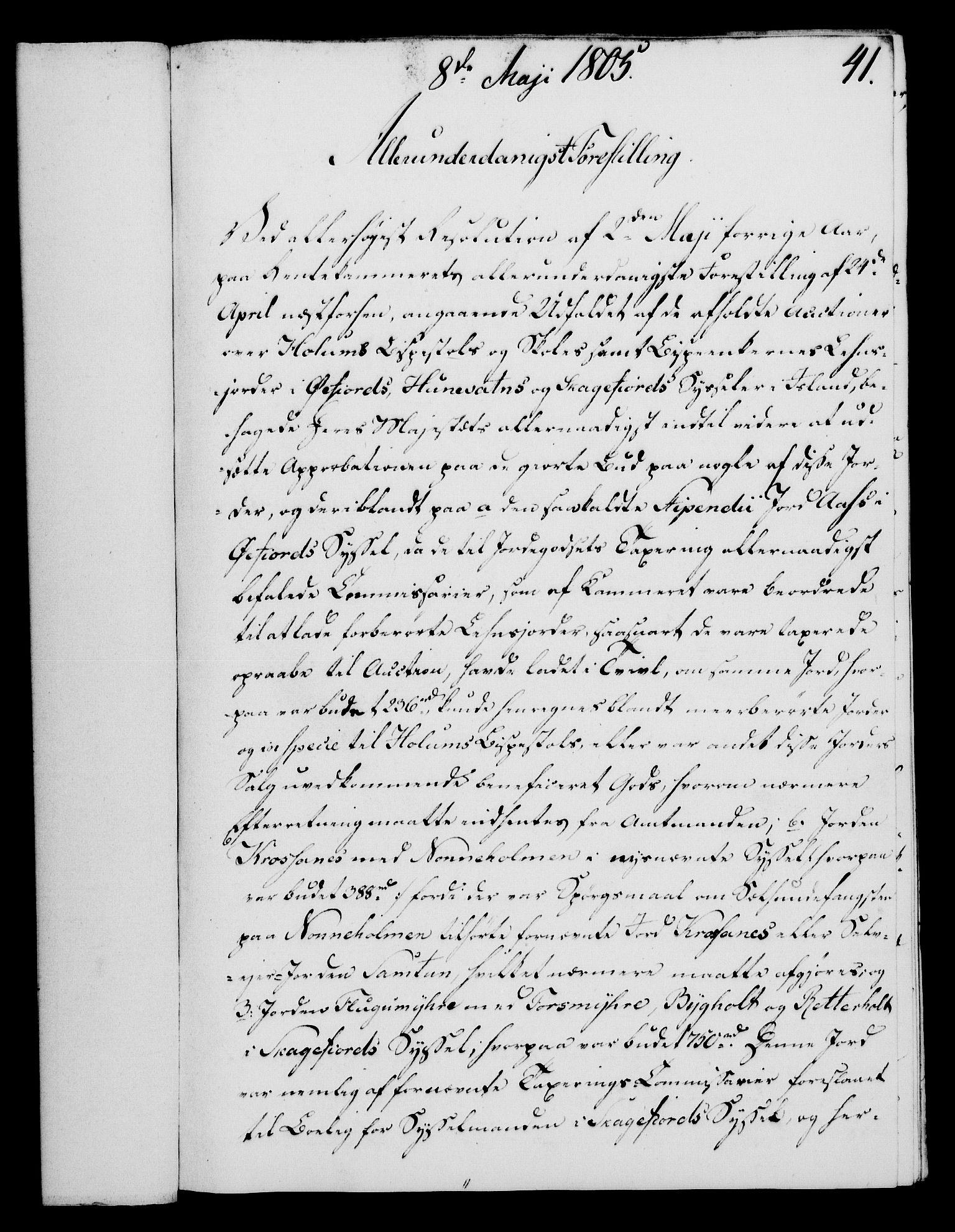 RA, Rentekammeret, Kammerkanselliet, G/Gf/Gfa/L0087: Norsk relasjons- og resolusjonsprotokoll (merket RK 52.87), 1805, s. 237