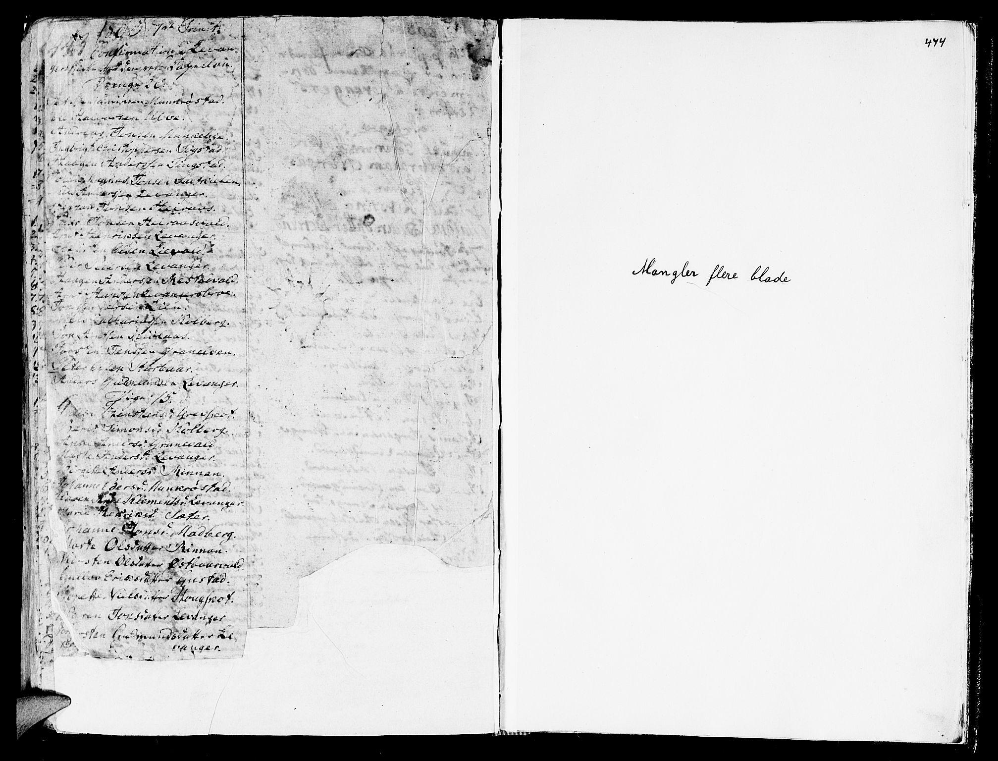 SAT, Ministerialprotokoller, klokkerbøker og fødselsregistre - Nord-Trøndelag, 717/L0141: Ministerialbok nr. 717A01, 1747-1803, s. 443-444