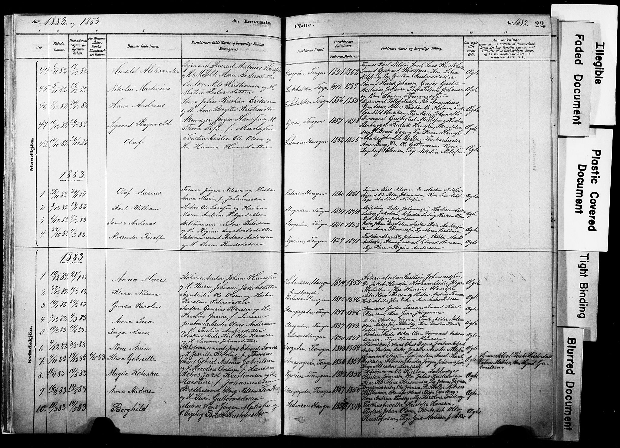 SAKO, Strømsø kirkebøker, F/Fb/L0006: Ministerialbok nr. II 6, 1879-1910, s. 22