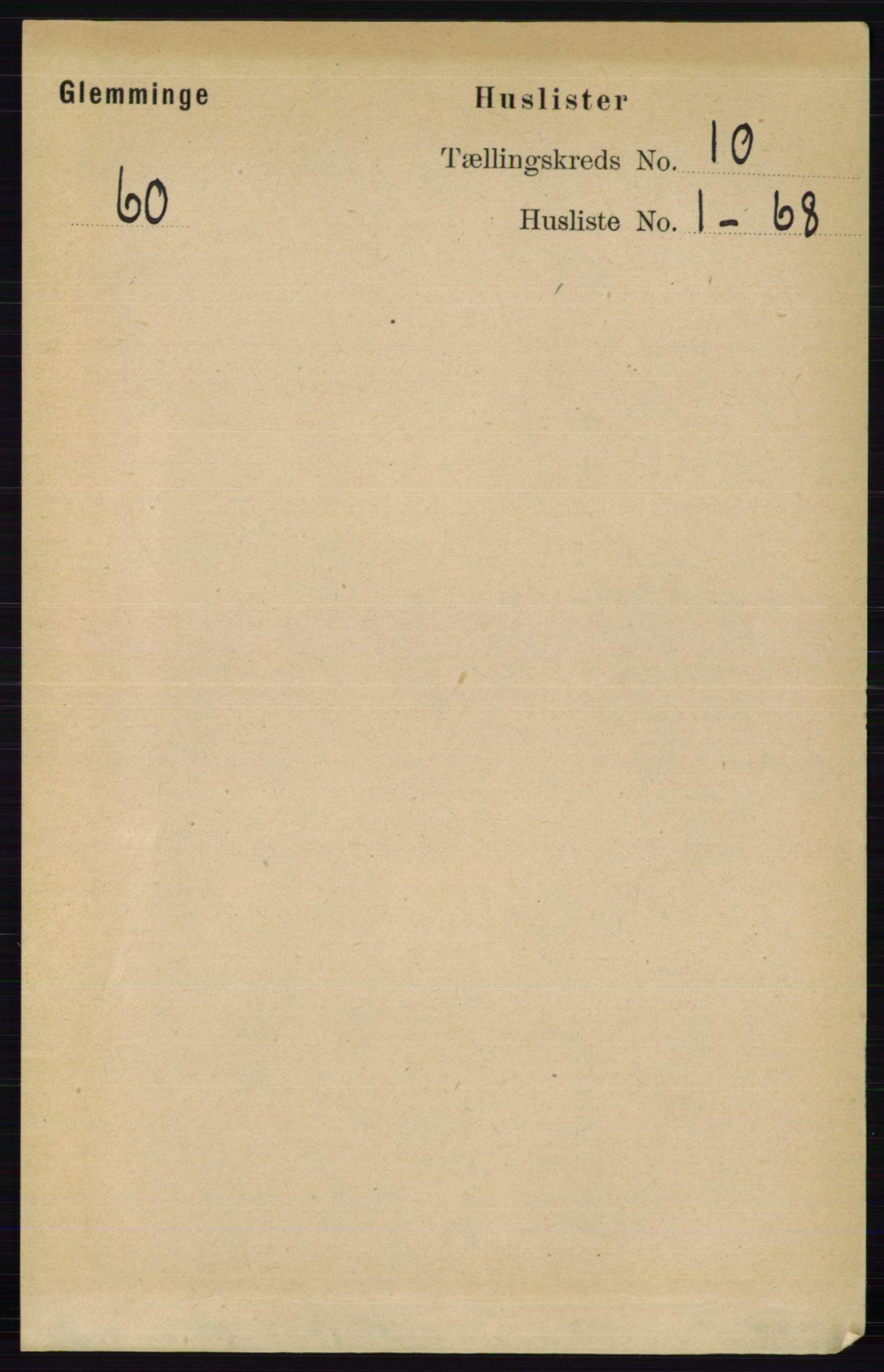 RA, Folketelling 1891 for 0132 Glemmen herred, 1891, s. 9900