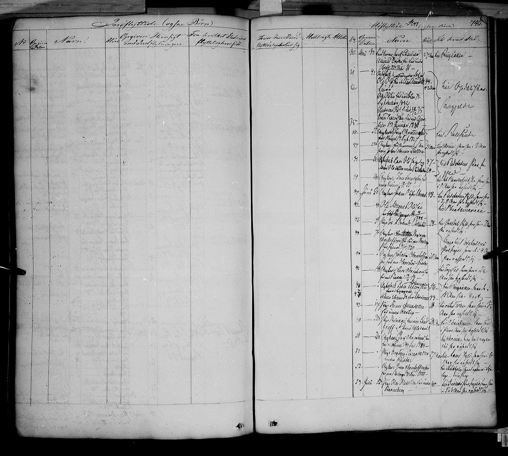 SAH, Fåberg prestekontor, Ministerialbok nr. 5, 1836-1854, s. 739-740