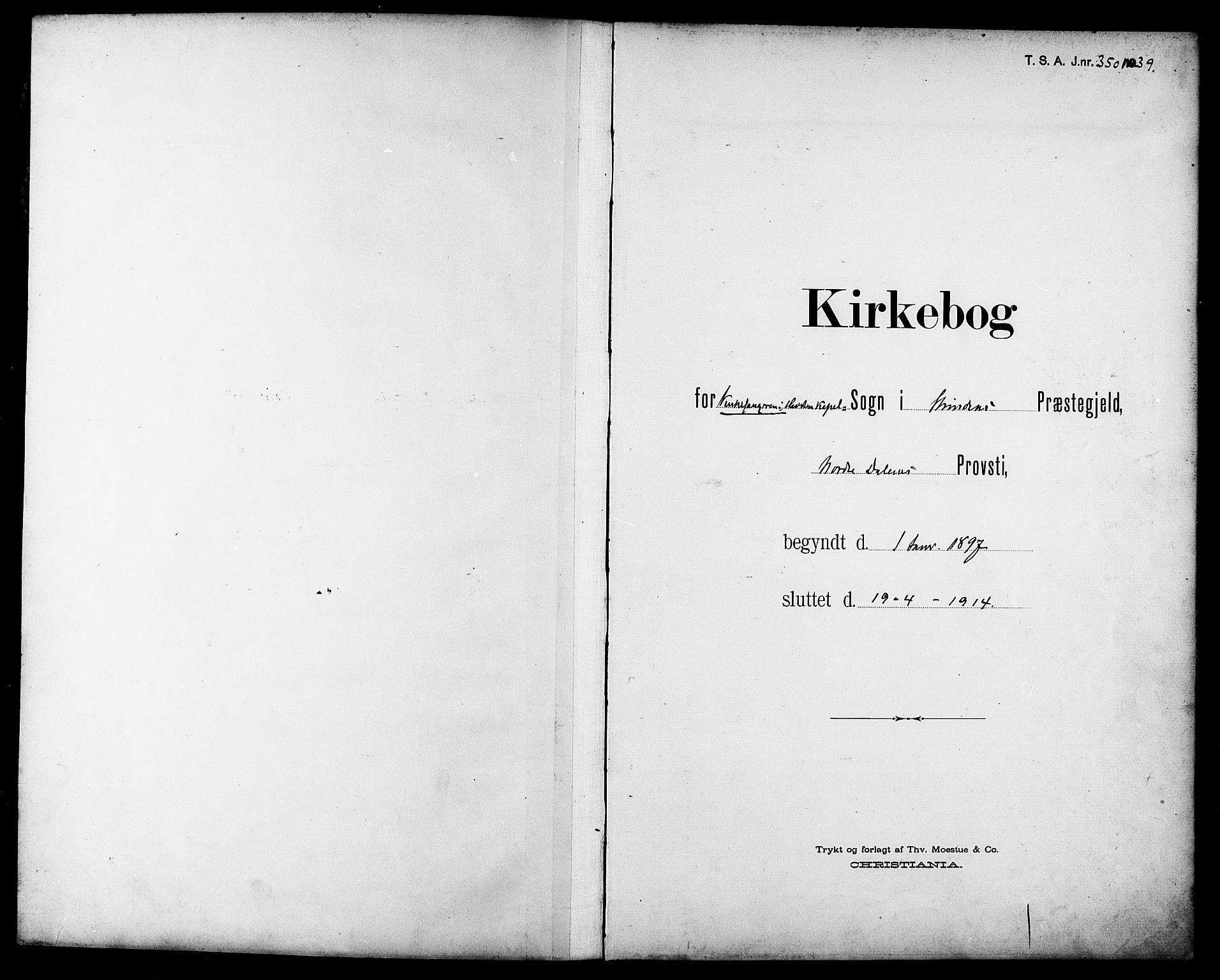 SAT, Ministerialprotokoller, klokkerbøker og fødselsregistre - Sør-Trøndelag, 611/L0355: Klokkerbok nr. 611C03, 1897-1914