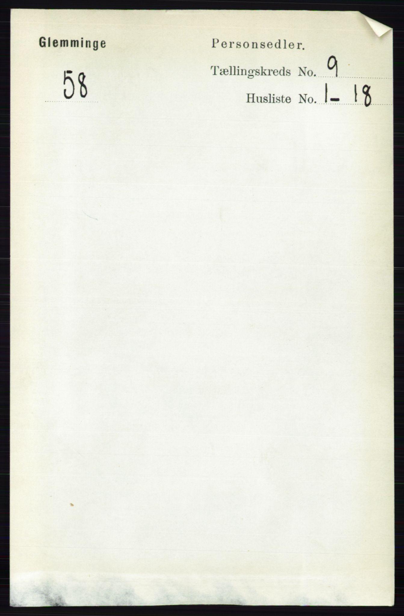 RA, Folketelling 1891 for 0132 Glemmen herred, 1891, s. 9582